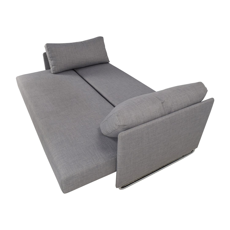 ... CB2 Tandom Grey Sleeper Sofa / Classic Sofas