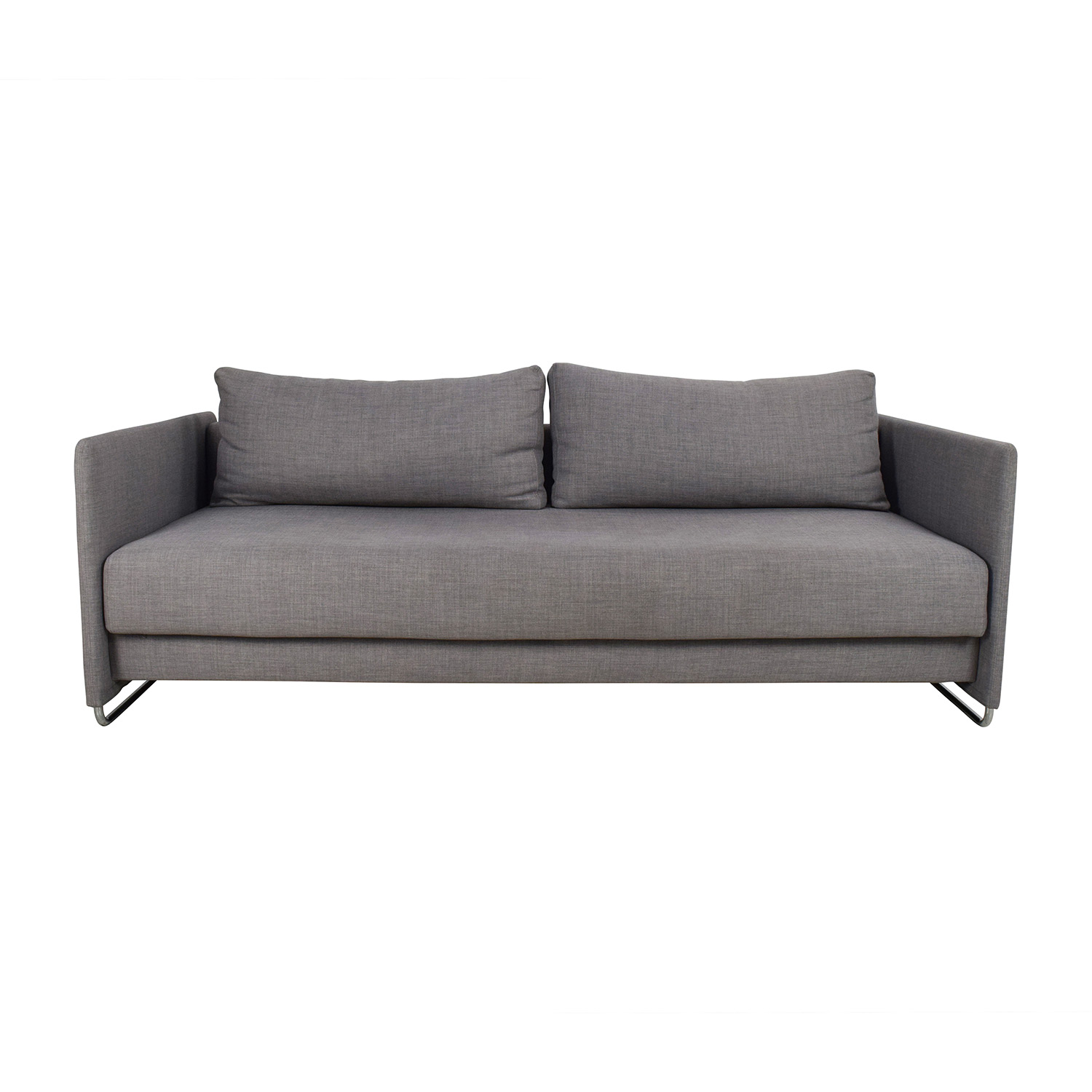 CB2 CB2 Tandom Grey Sleeper Sofa