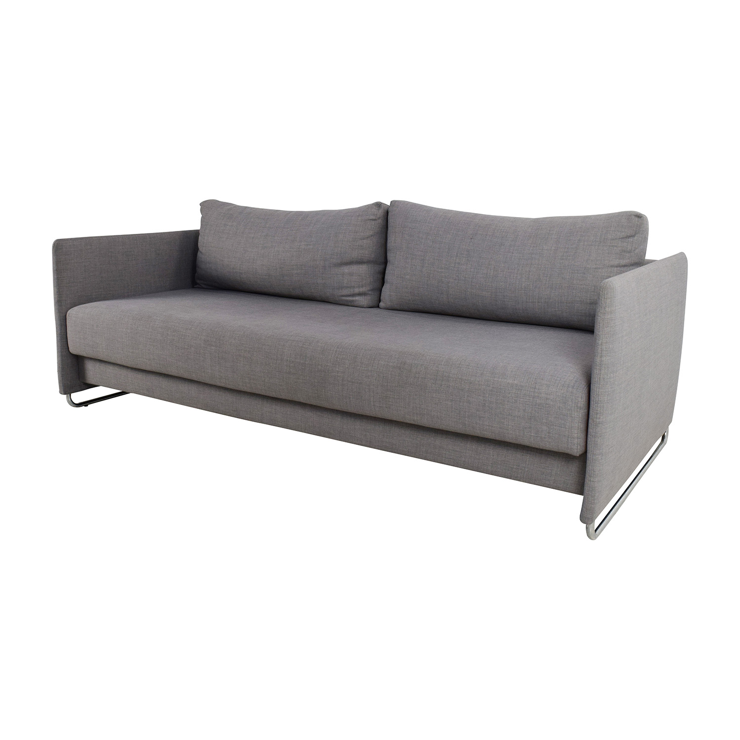 ... Shop CB2 Tandom Grey Sleeper Sofa CB2 ...