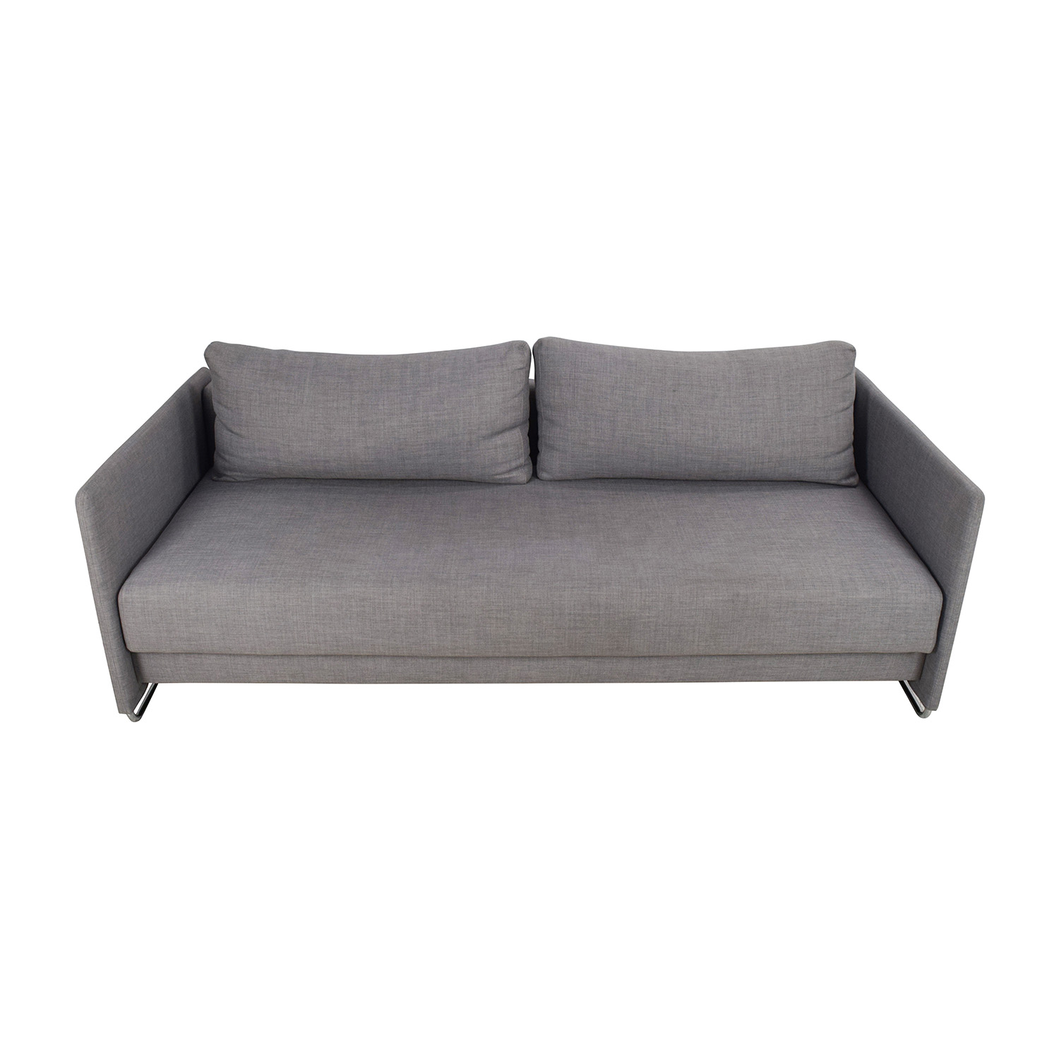 50% OFF CB2 CB2 Tandom Grey Sleeper Sofa Sofas