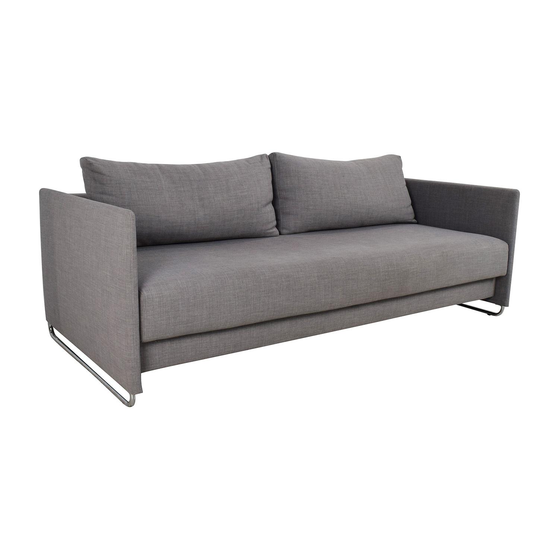 Cb2 Tandom Grey Sleeper Sofa Sofas
