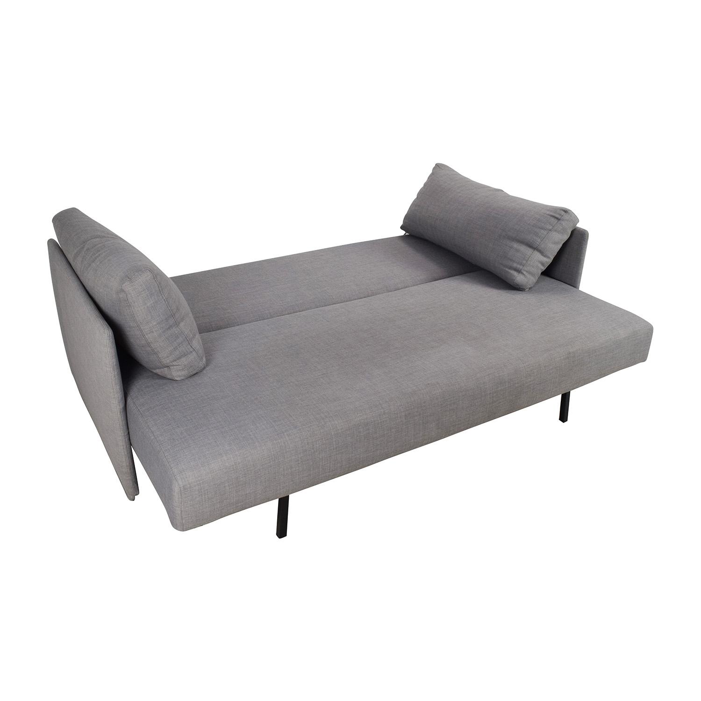 CB2 CB2 Tandom Grey Sleeper Sofa / Sofas