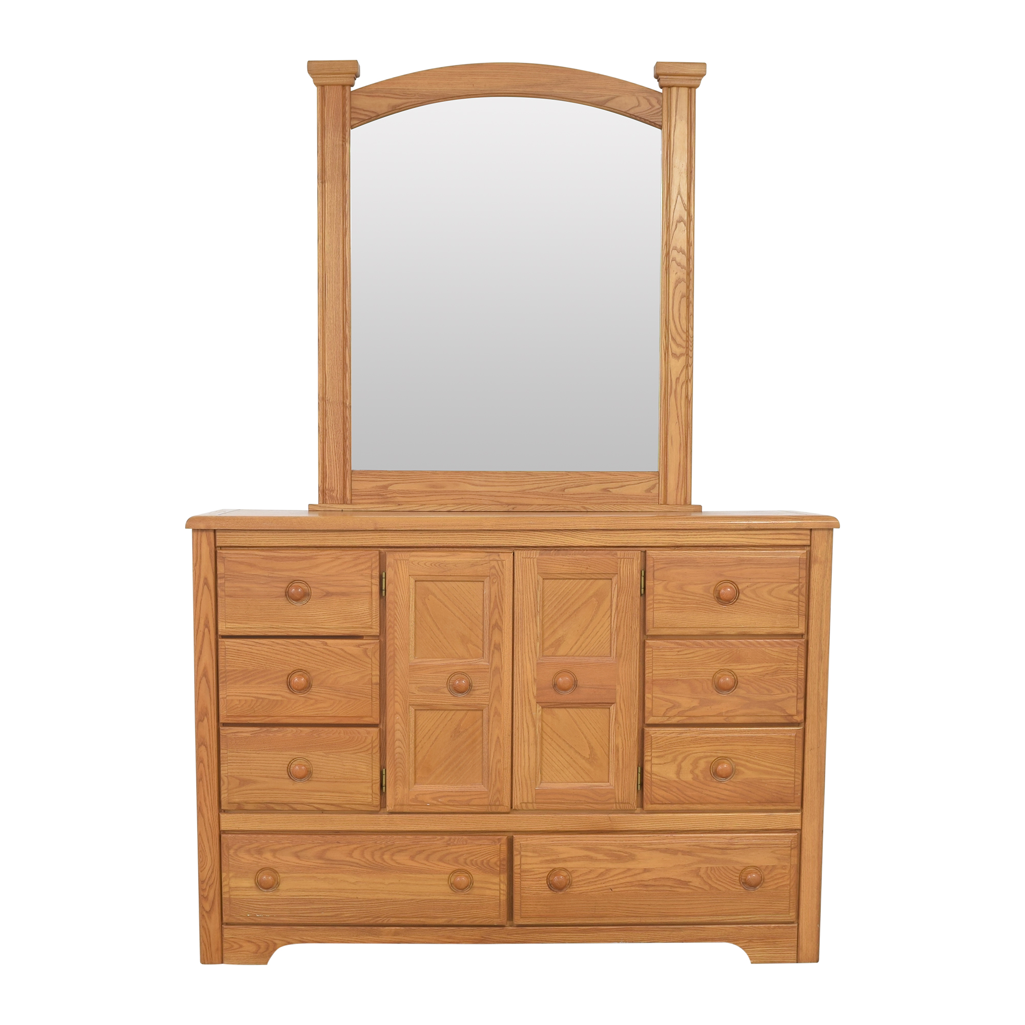 Vaughan-Bassett Vaughan-Bassett Eleven Drawer Dresser with Mirror dimensions