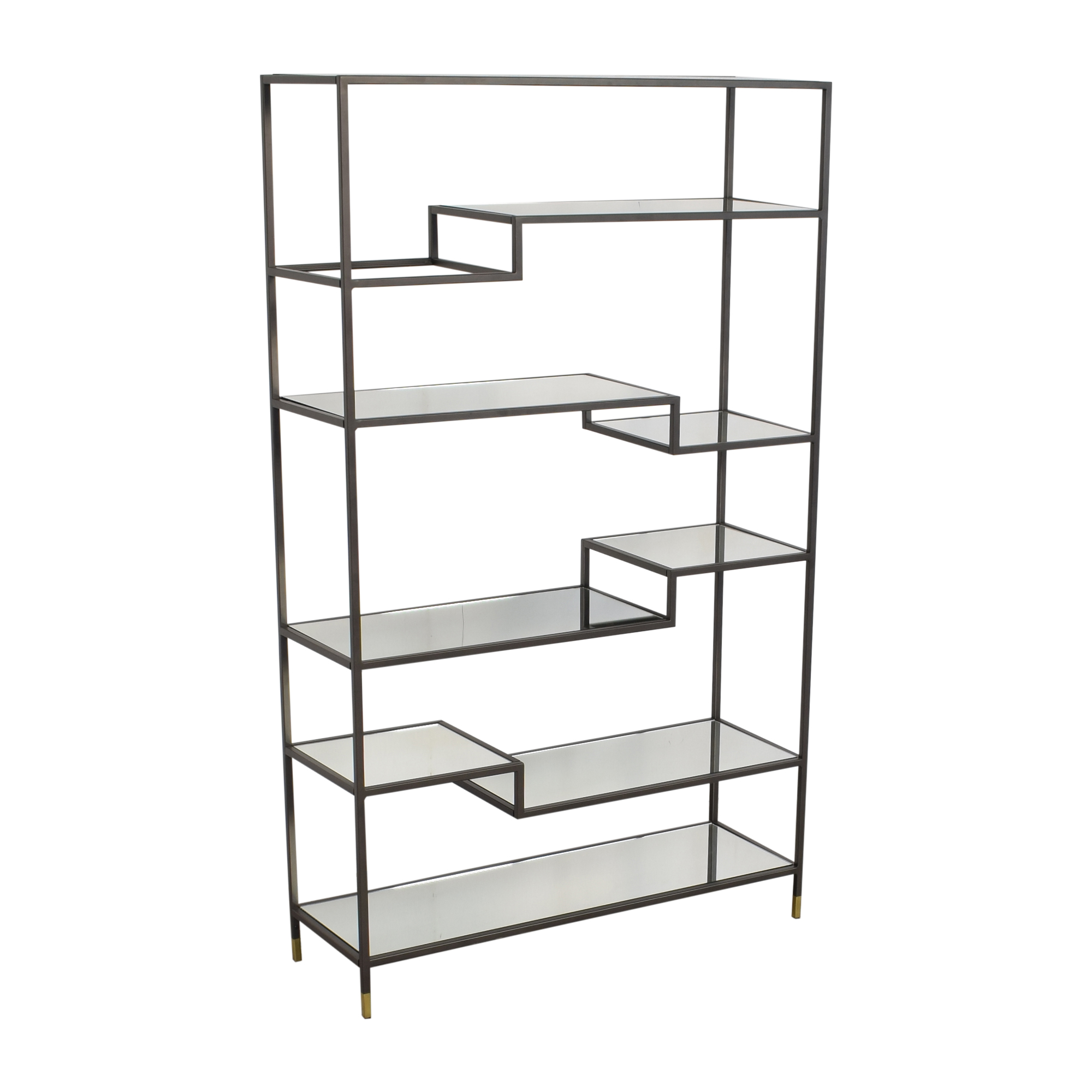 West Elm West Elm Tiered Tower Bookcase gray