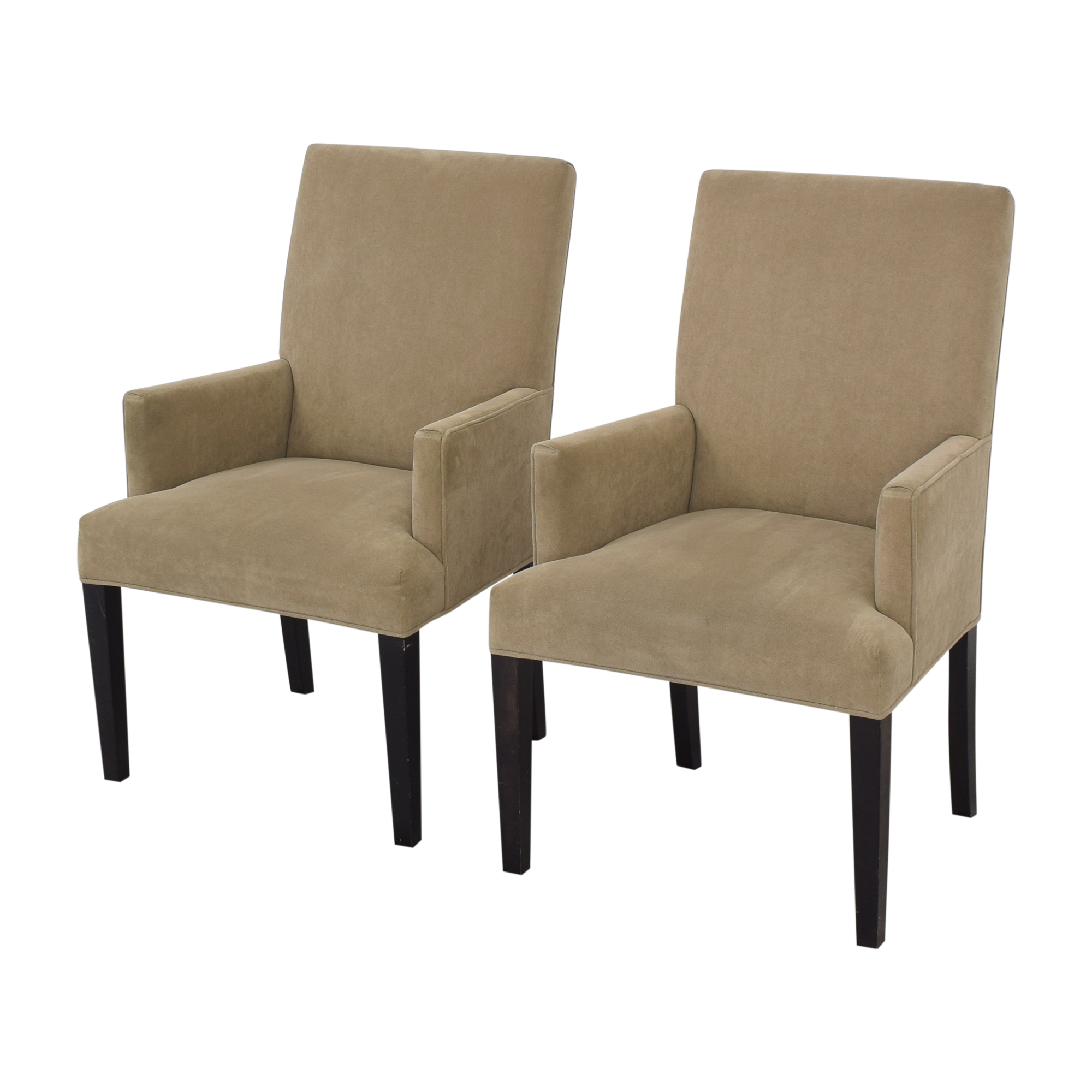 Crate & Barrel Crate & Barrel Upholstered Dining Chairs brown