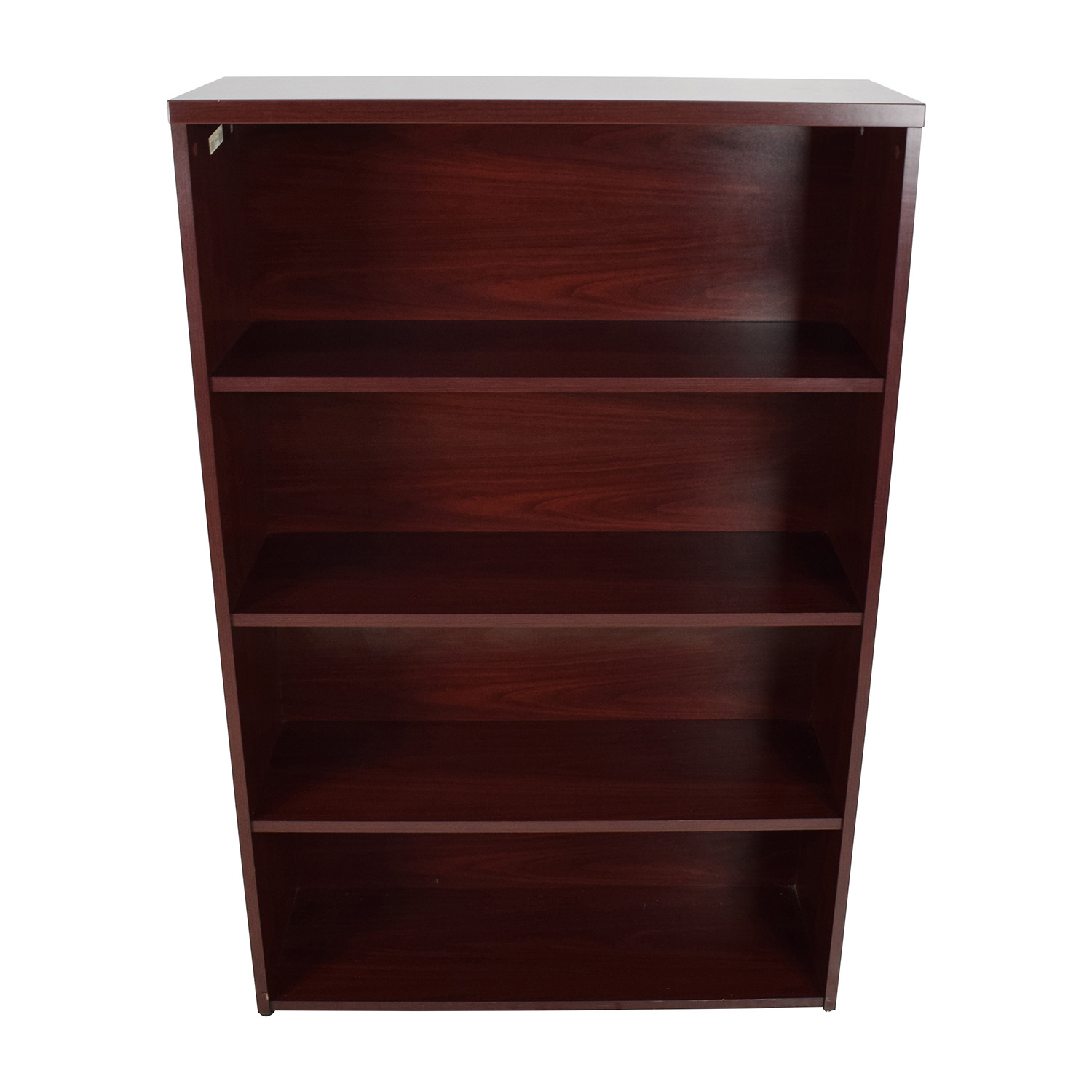 Cherry Finish 4-Shelf Bookcase
