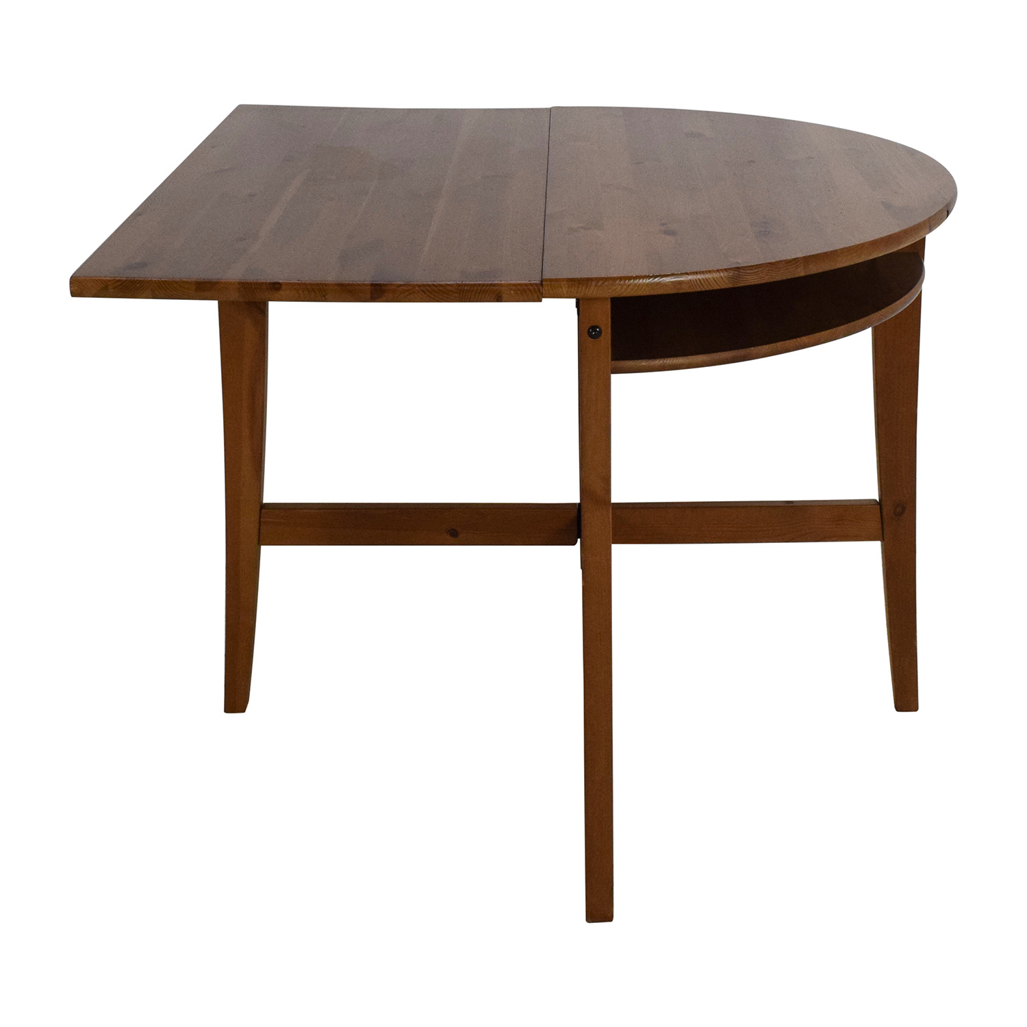 Foldable Wooden Kitchen Table Brown