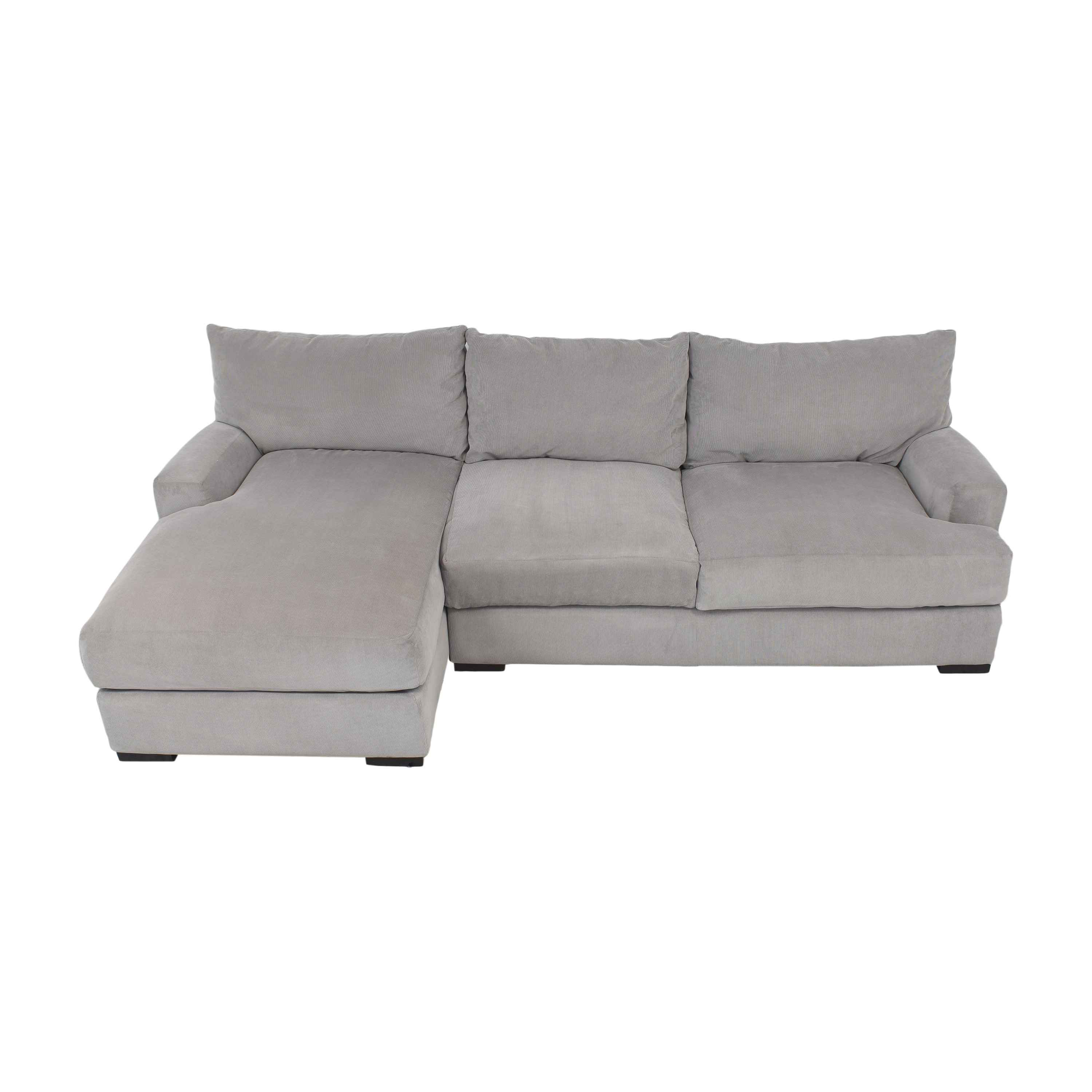 Macy's Macy's Rhyder Chaise Sectional Sofa dimensions