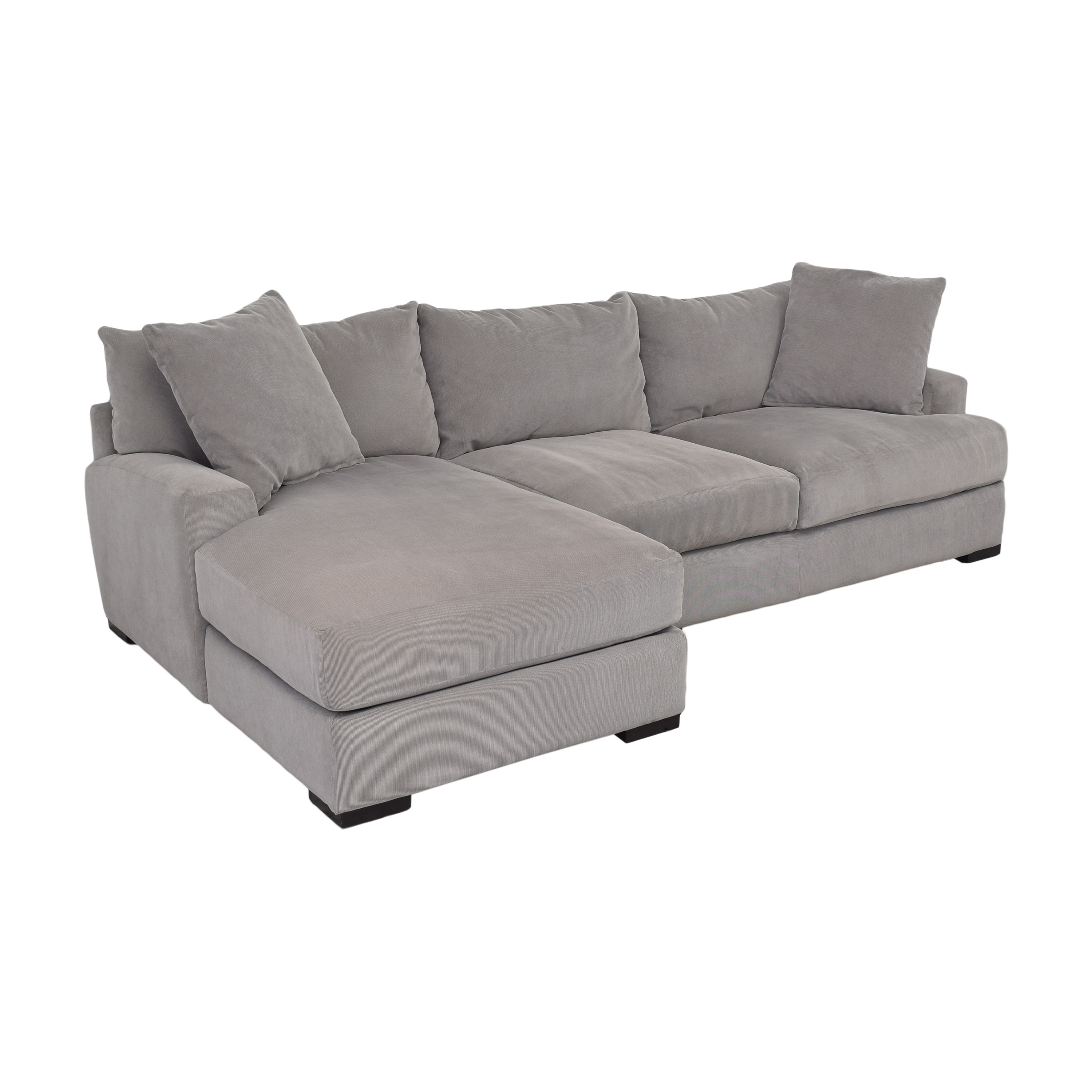 Macy's Macy's Rhyder Chaise Sectional Sofa for sale
