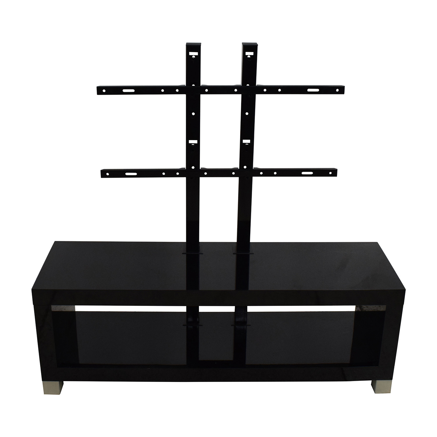Black Gloss Media Unit with TV Mount Storage