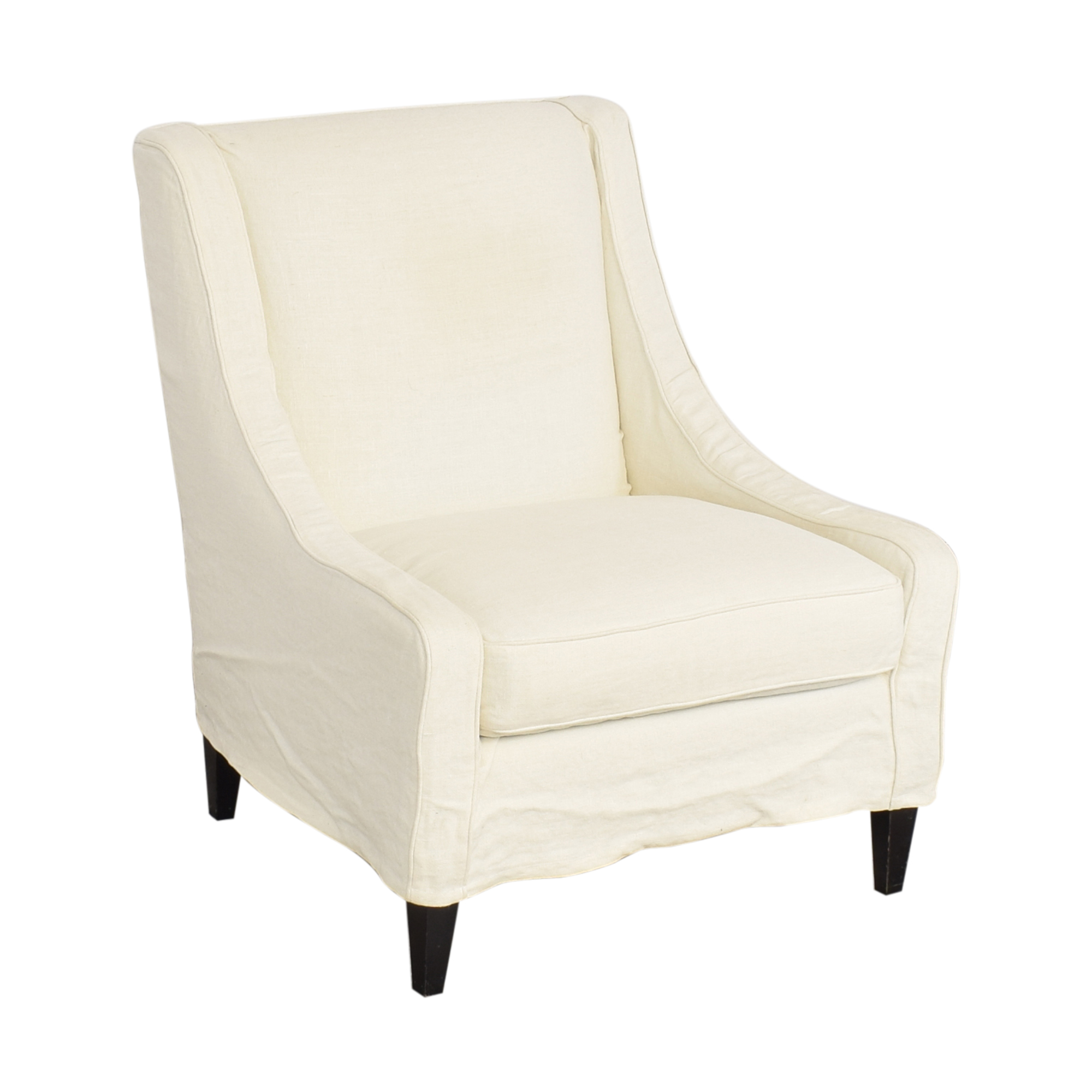 shop Crate & Barrel Slipcovered Accent Chair Crate & Barrel