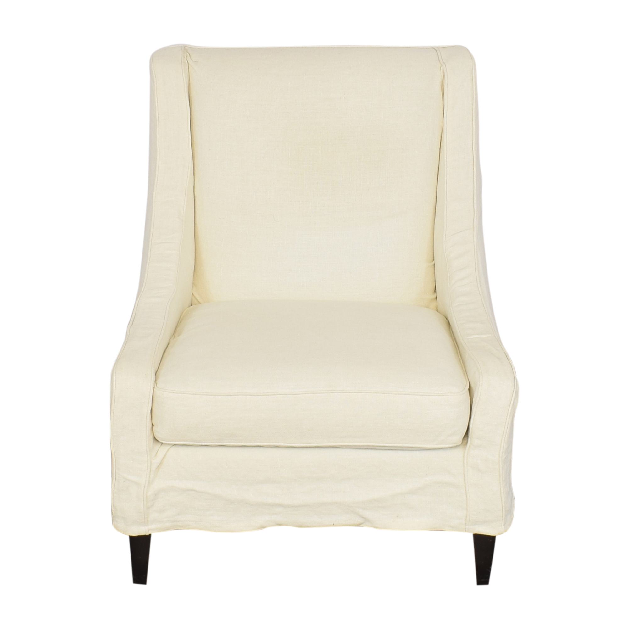 Crate & Barrel Slipcovered Accent Chair / Accent Chairs