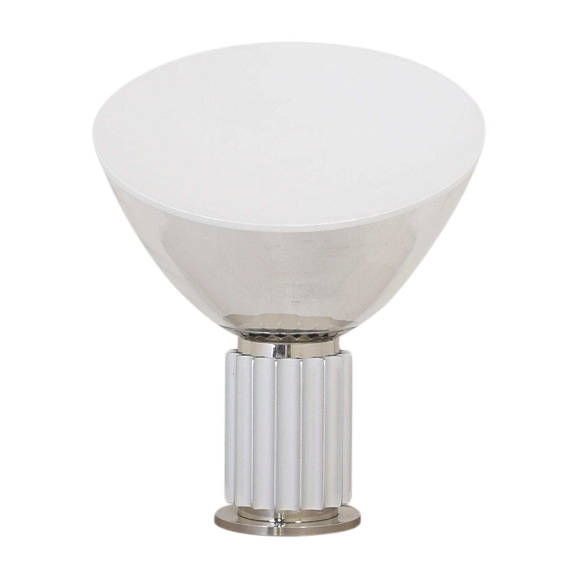 FLOS Flos Taccia Table Lamp White & Chrome