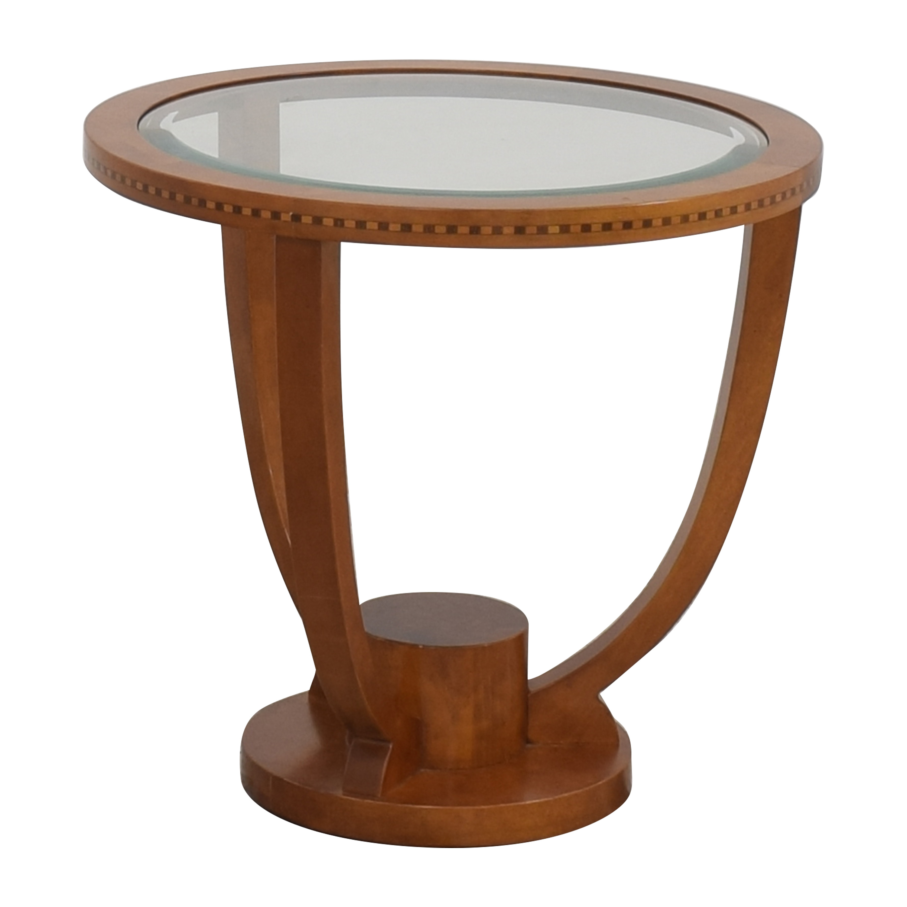 Jasper Side Table with Transparent Surface / Tables