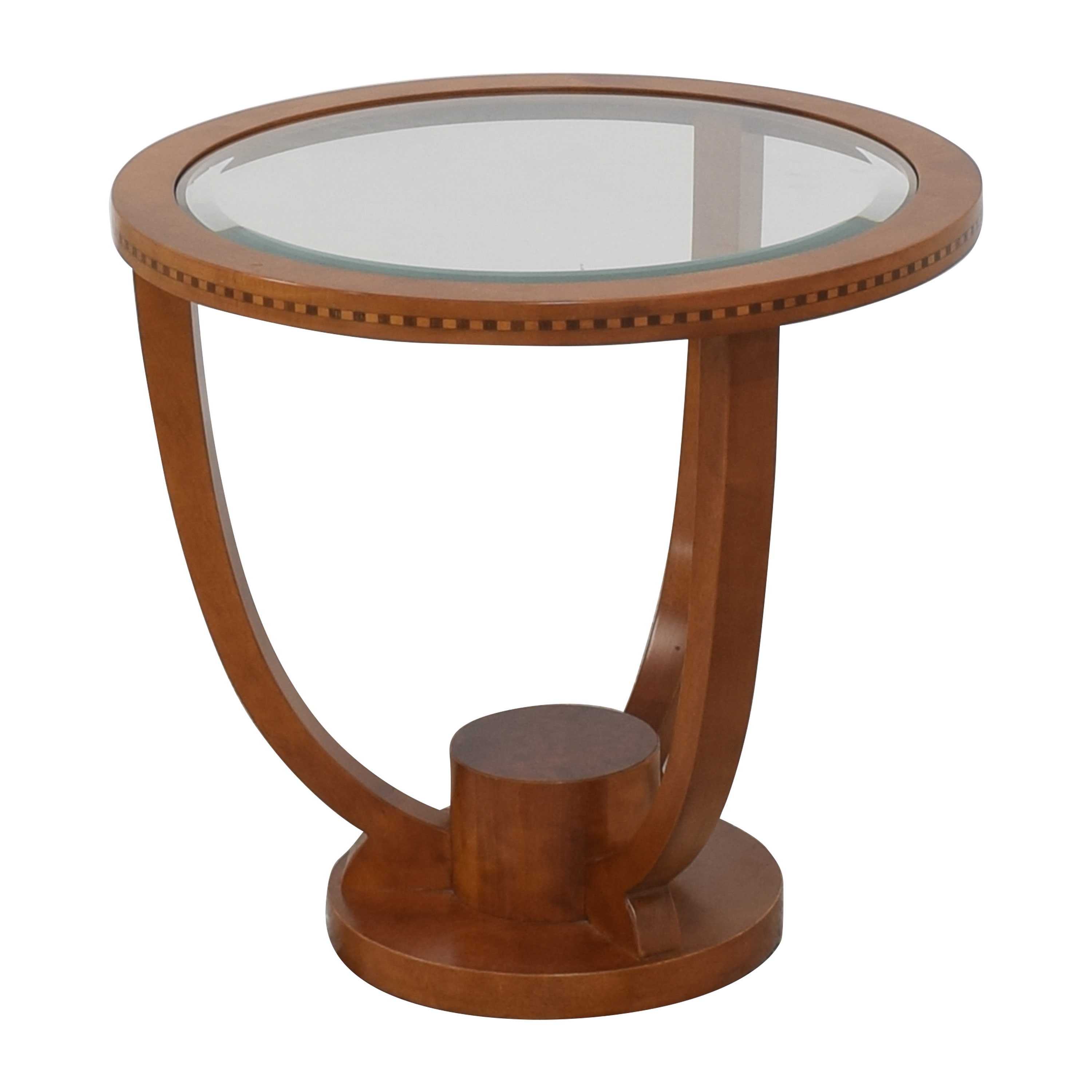 shop Jasper Side Table with Transparent Surface  End Tables