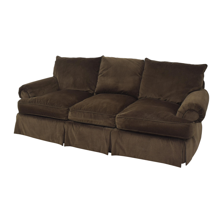 Thomasville Thomasville Roll Arm Skirted Sofa Classic Sofas