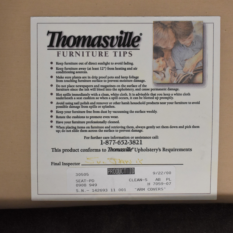 buy Thomasville Roll Arm Skirted Sofa Thomasville