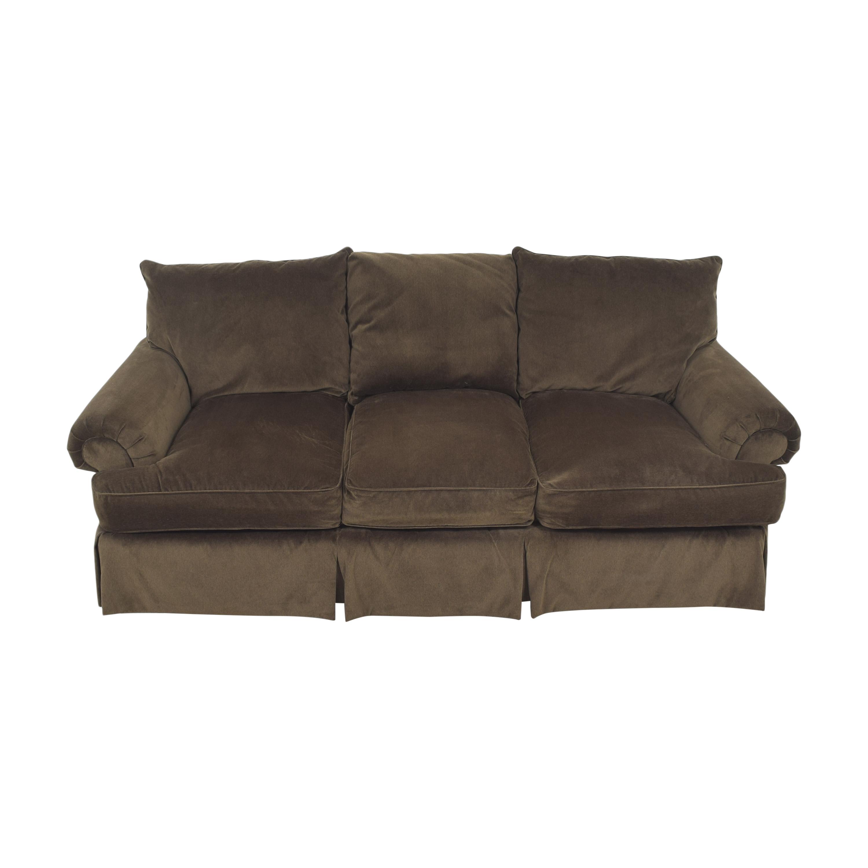 Thomasville Thomasville Roll Arm Skirted Sofa pa