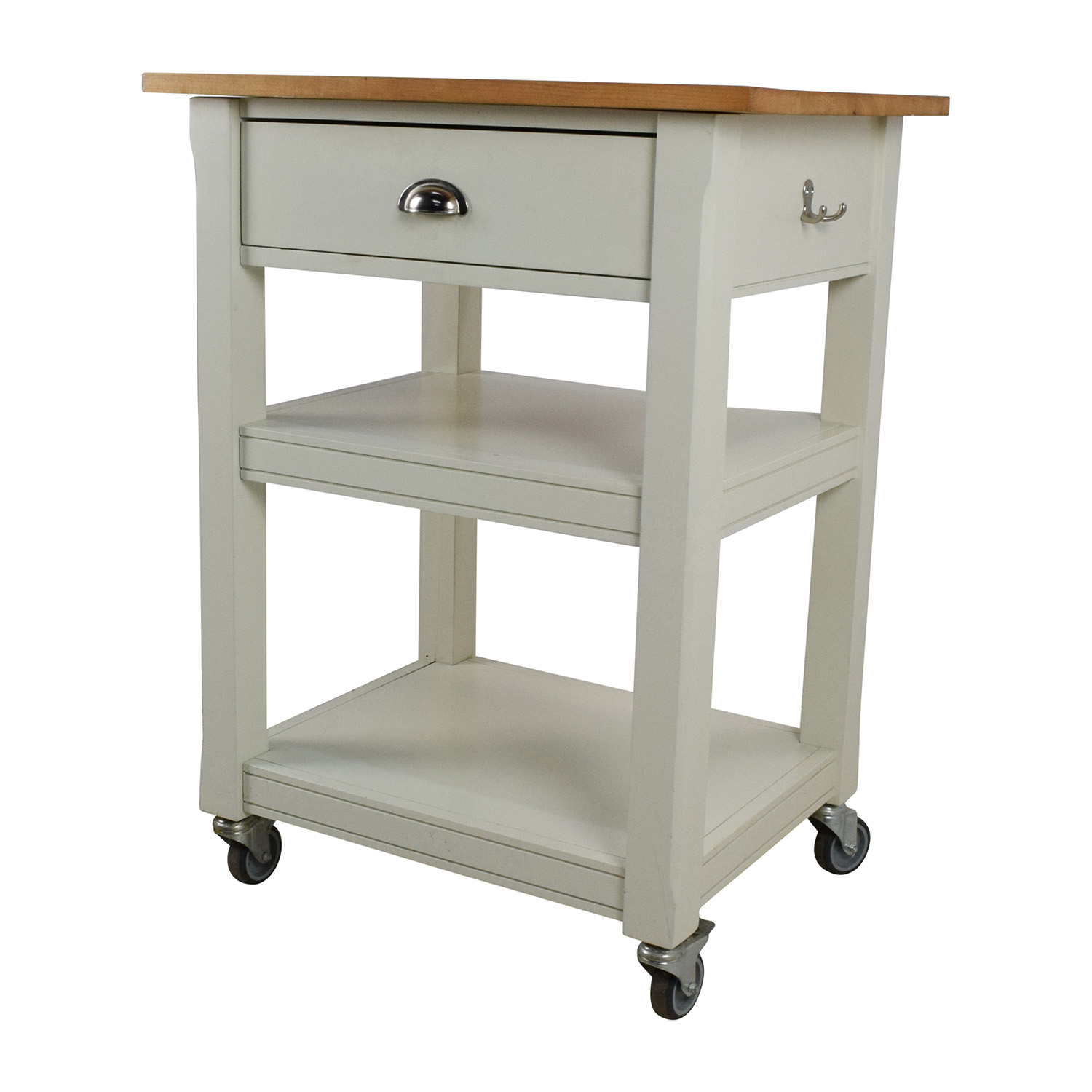 ... Rolling Kitchen Cart With Cutting Board Used ...