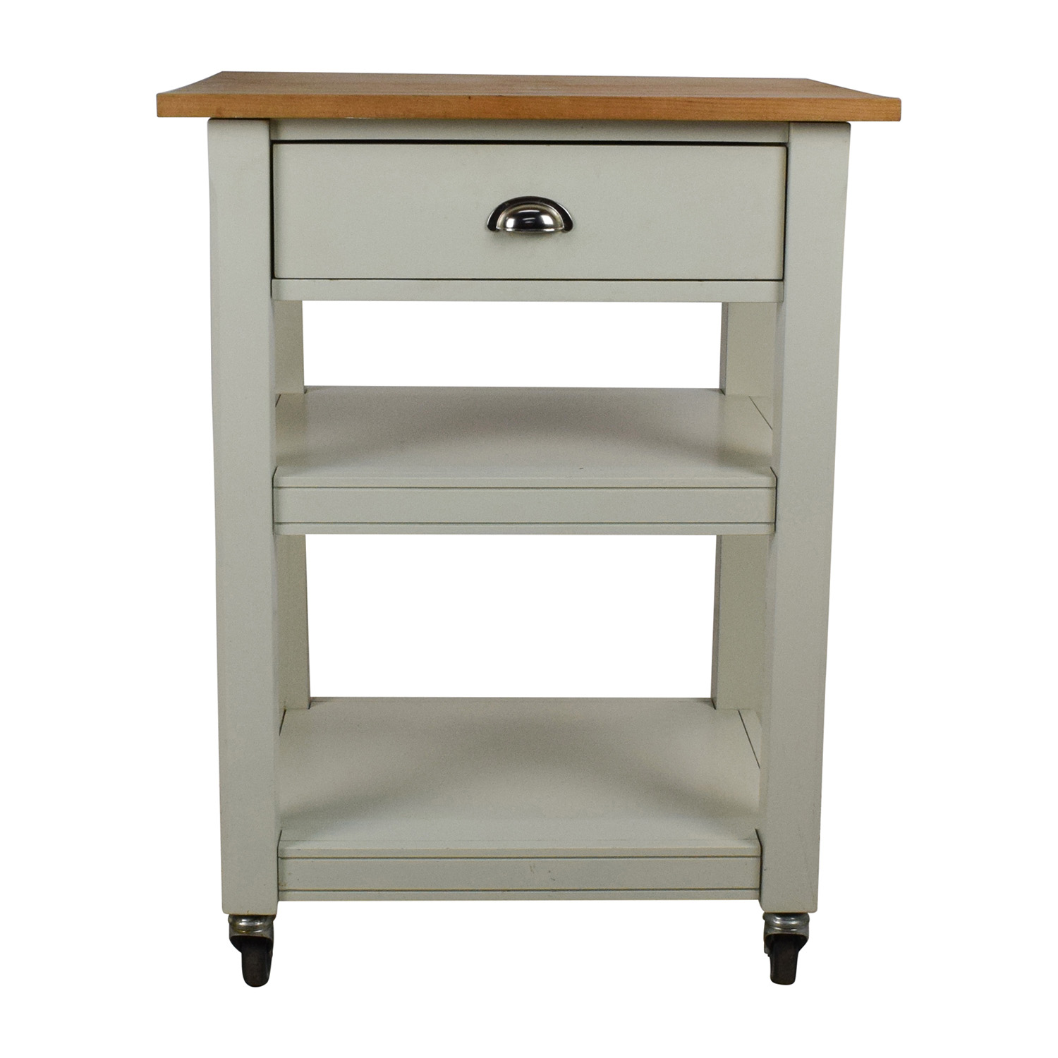 Shop Rolling Kitchen Cart With Cutting Board Utility Tables ...