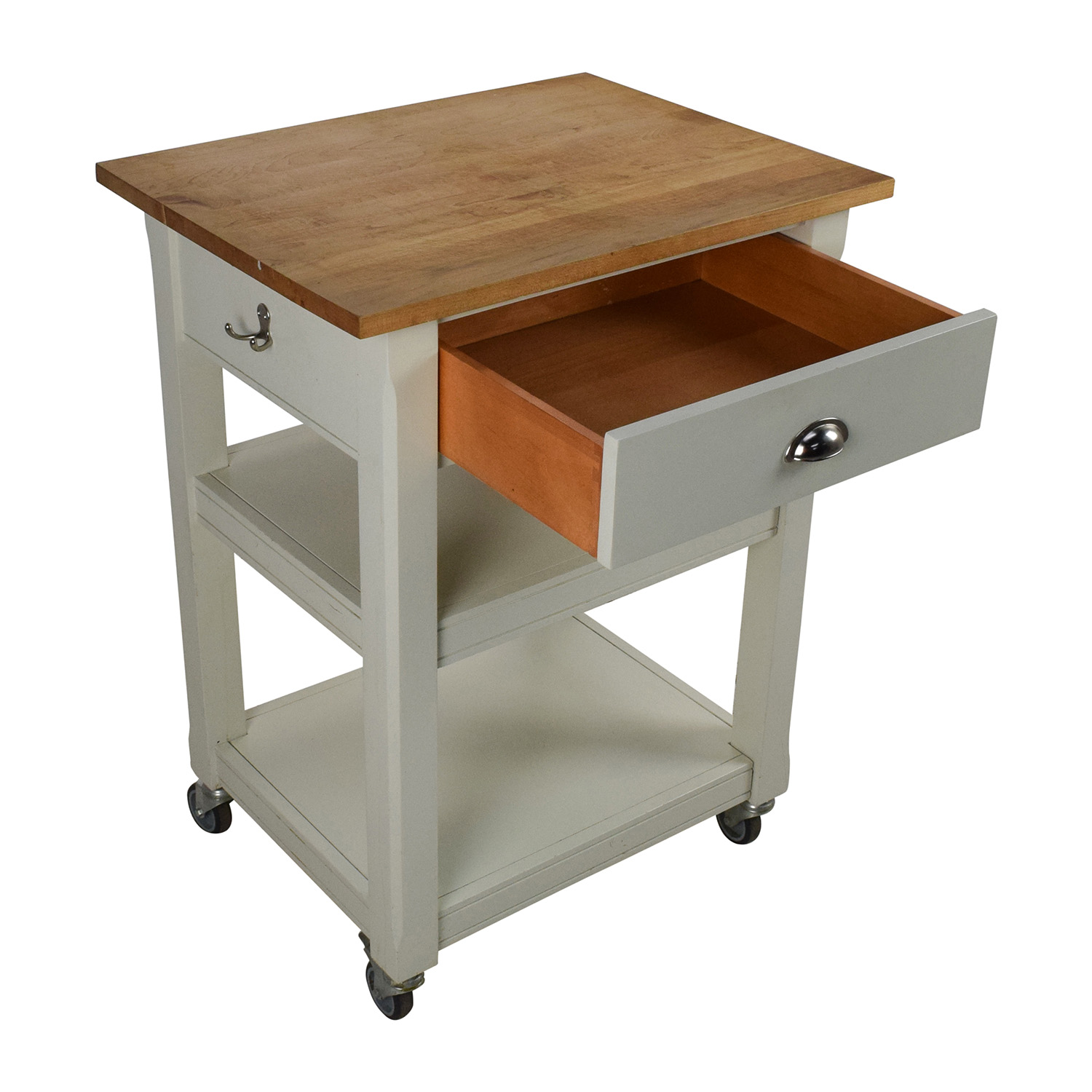Rolling Kitchen Cart with Cutting Board / Tables