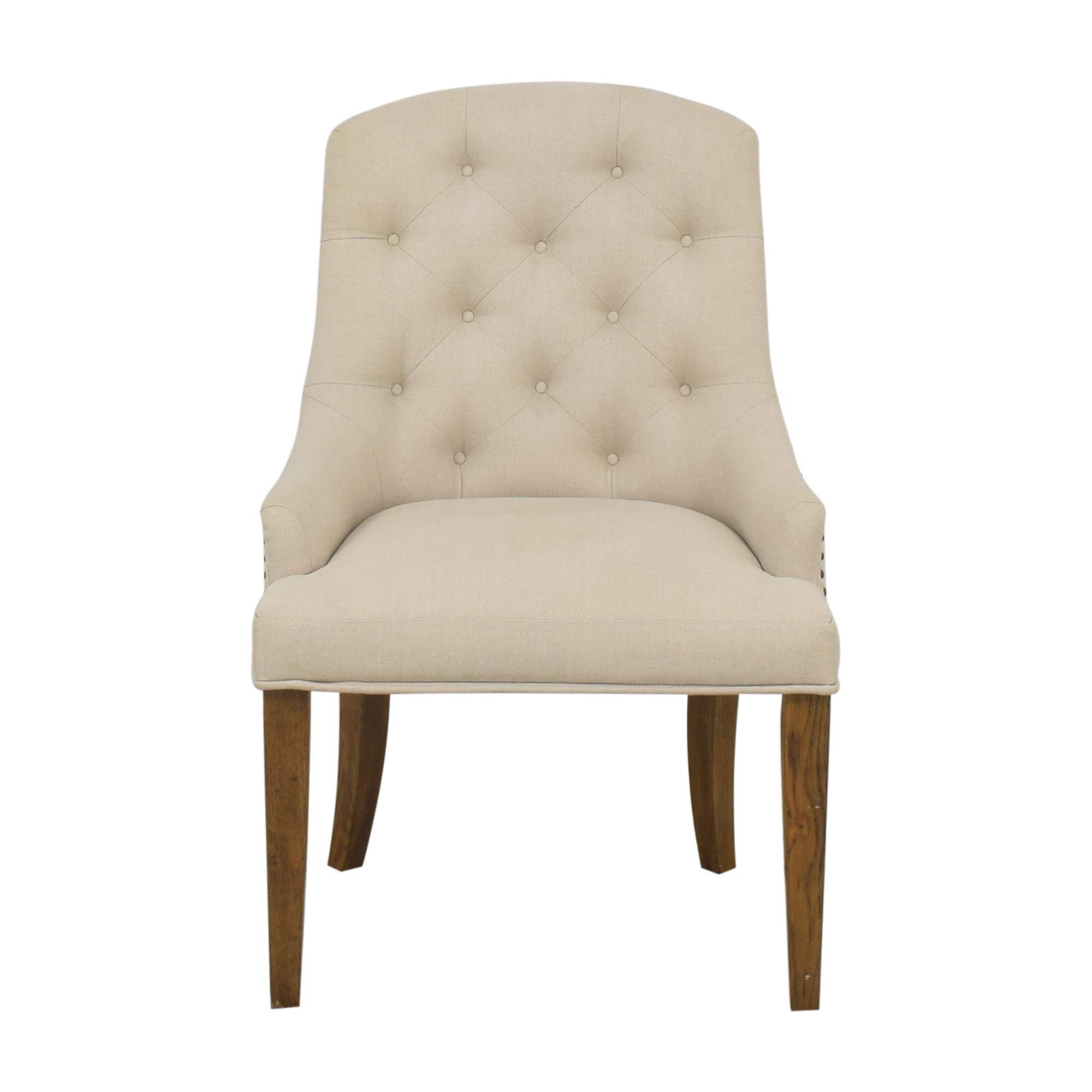 shop Pottery Barn Lorraine Upholstered Tufted Armchair Pottery Barn Chairs