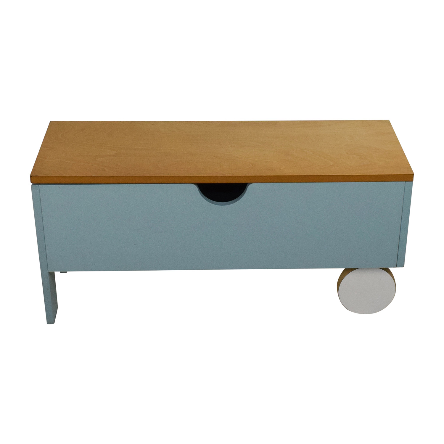 Light Blue Storage Trunk discount