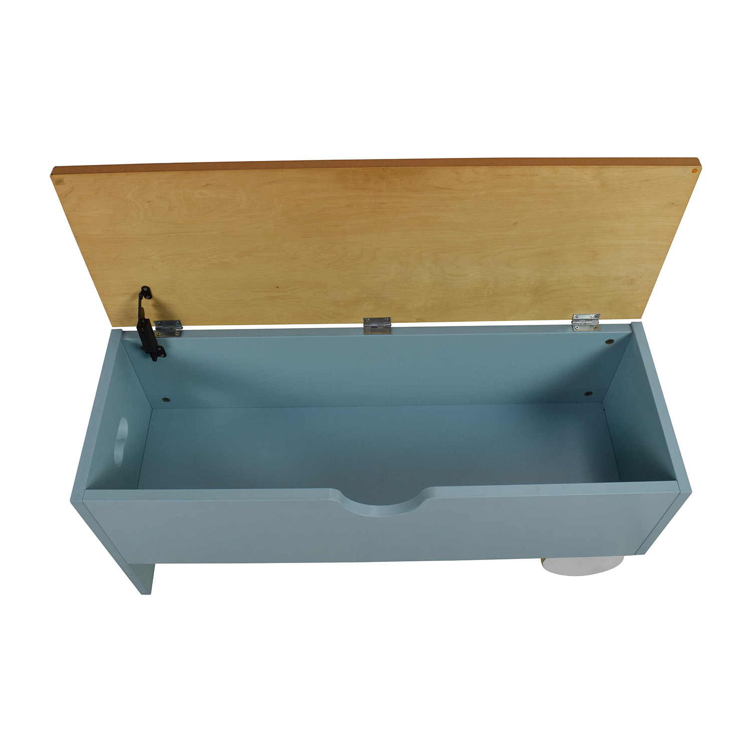 light blue storage trunk storage