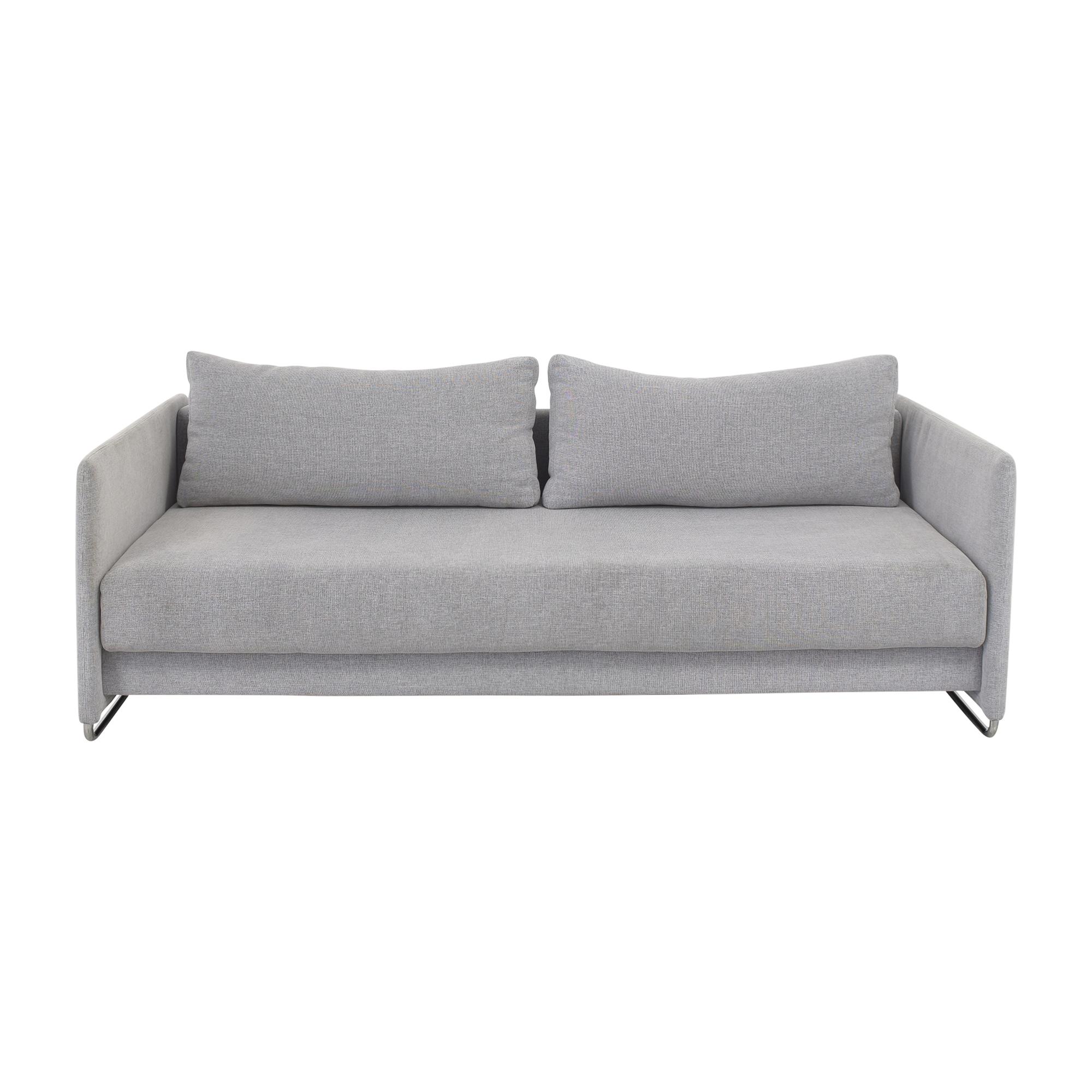 CB2 CB2 Tandom Microgrid Sleeper Sofa on sale