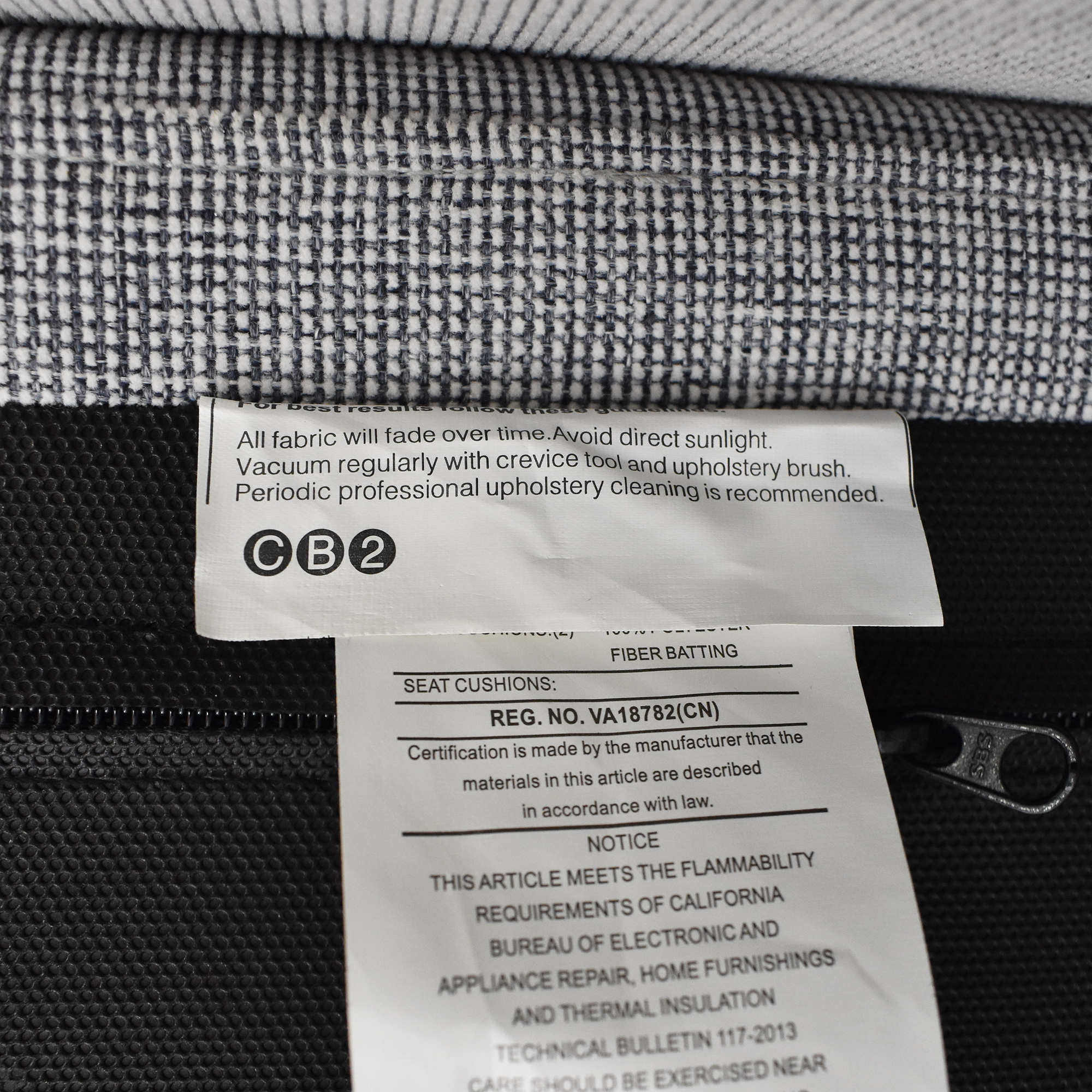 buy CB2 Tandom Microgrid Sleeper Sofa CB2