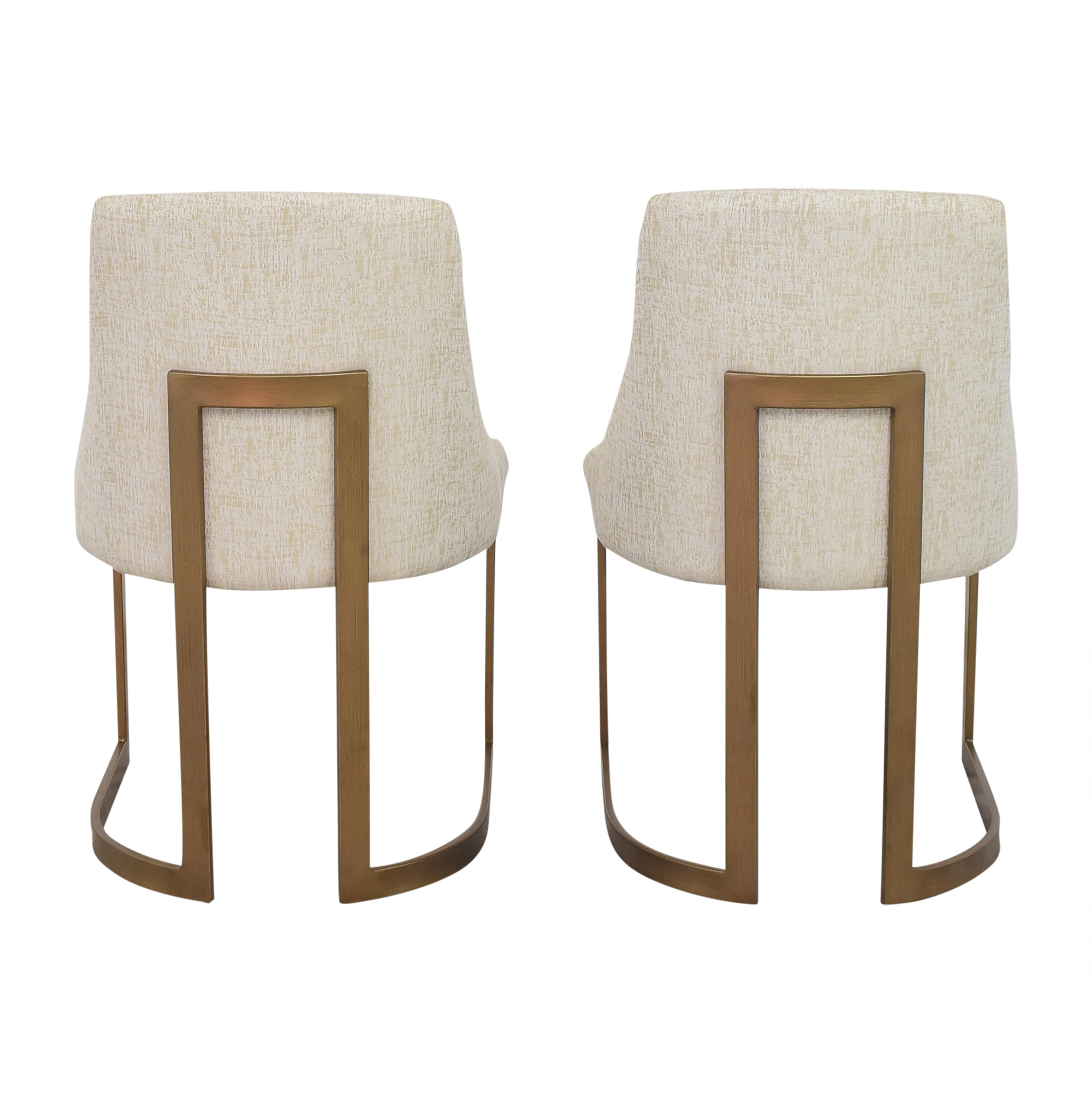 Madison Park Madison Park Bryce Dining Chairs beige & gold