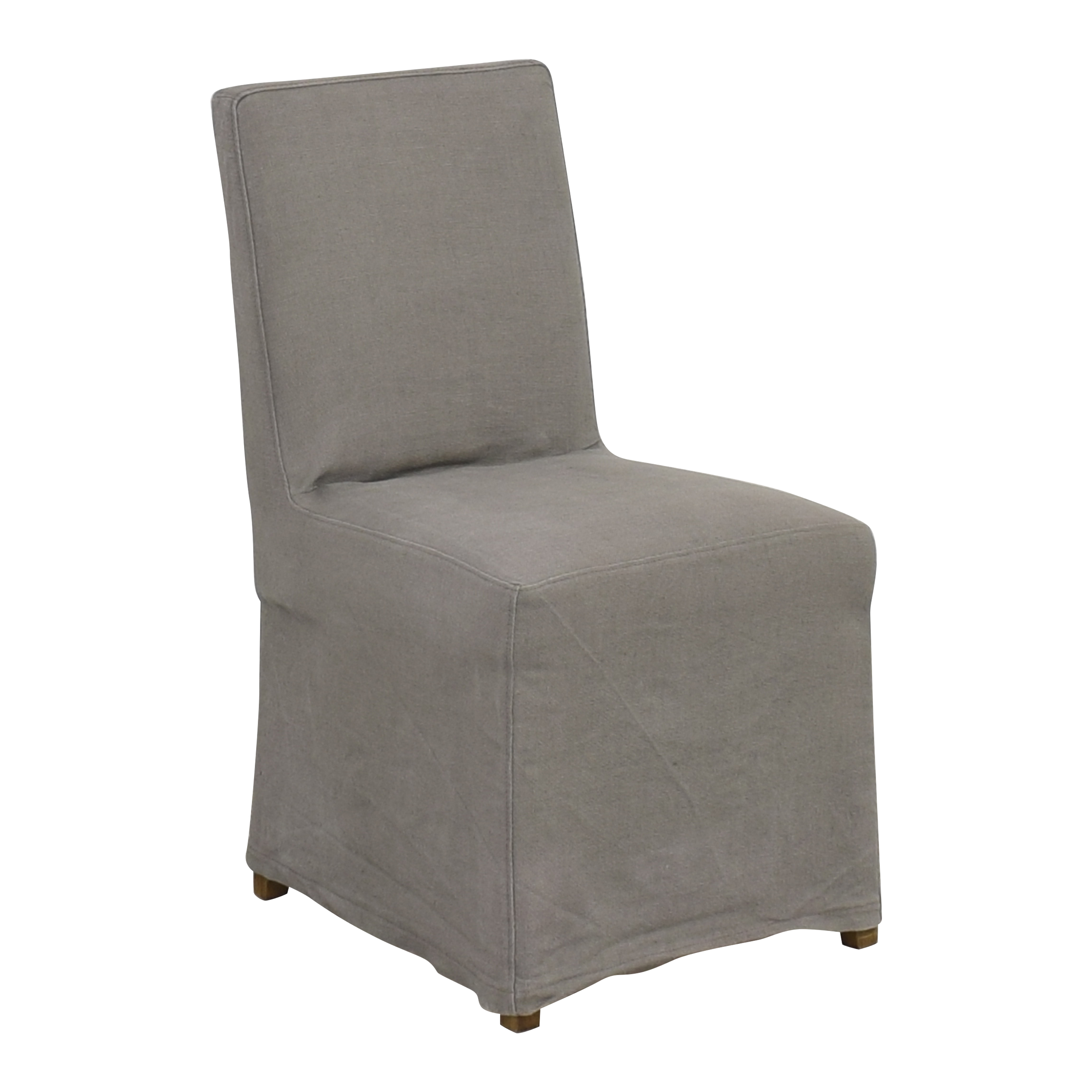 Restoration Hardware Restoration Hardware Parsons Hudson Slipcovered Side Chair second hand