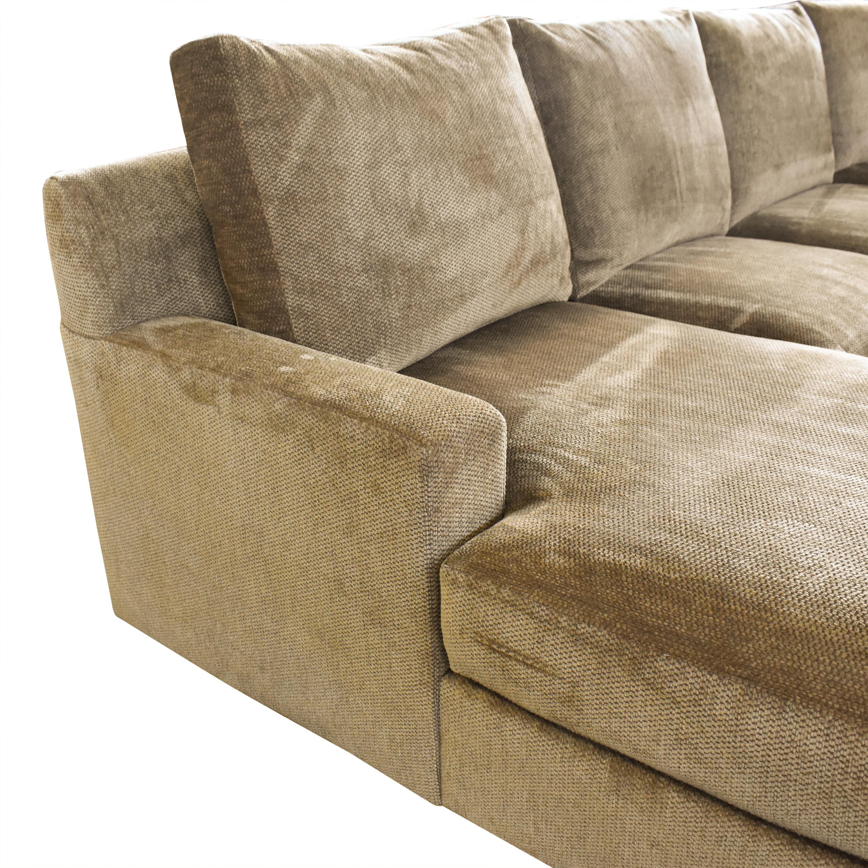 Kravet Kravet Four-Piece Custom Sectional Sofas