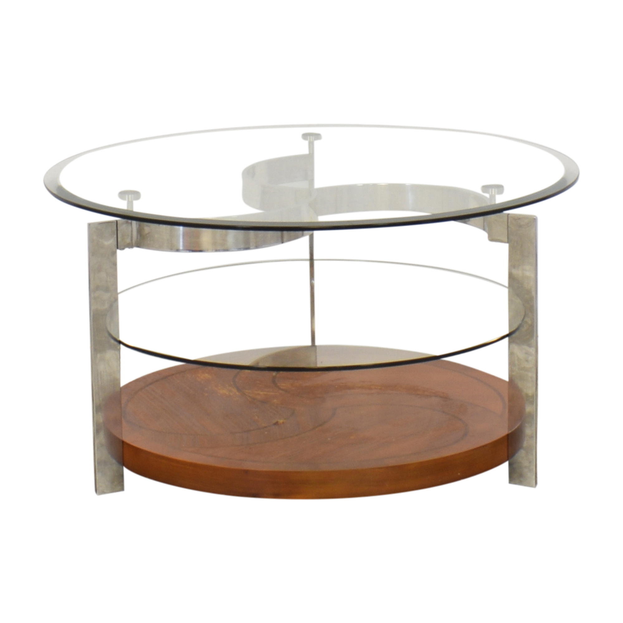 Round Tiered Coffee Table nj