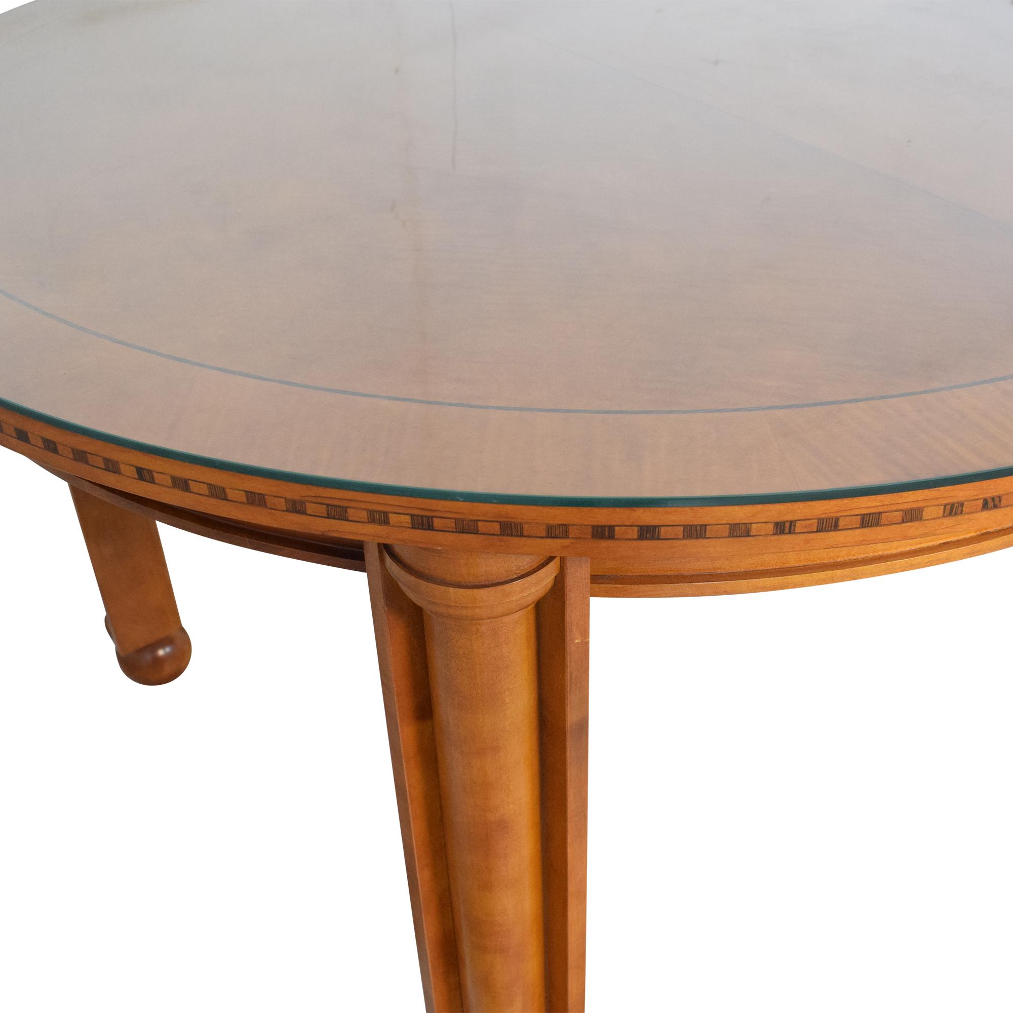 Jasper Oval Dinner Table Brown