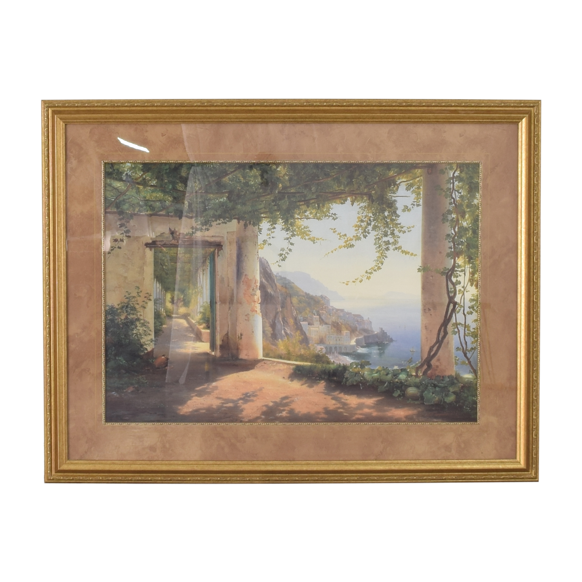 buy Ethan Allen Amalfi Coast View Wall Art Ethan Allen Decor