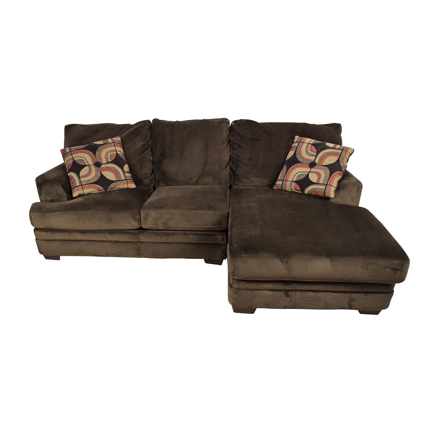 Bobs Furniture Bobs Furniture Charisma Sectional Sofa Brown