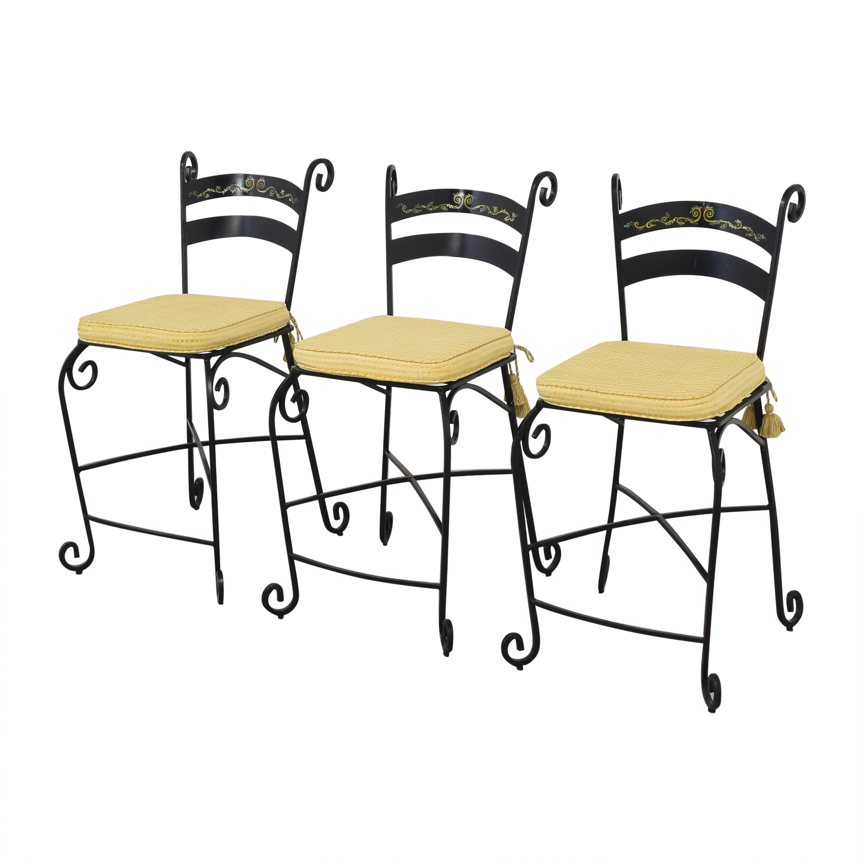 Wrought Frame Bar Stools for sale