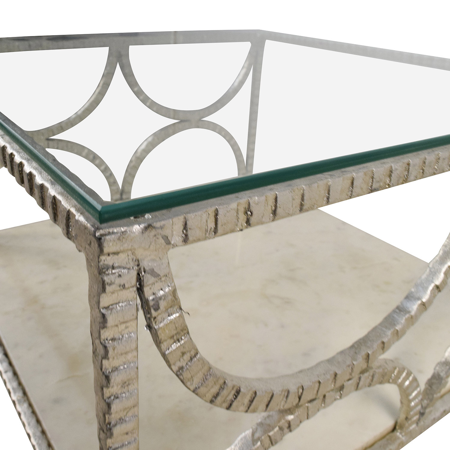 OFF Wisteria Wisteria Fitzgerald Silver Glass And Marble Table - Wisteria marble coffee table