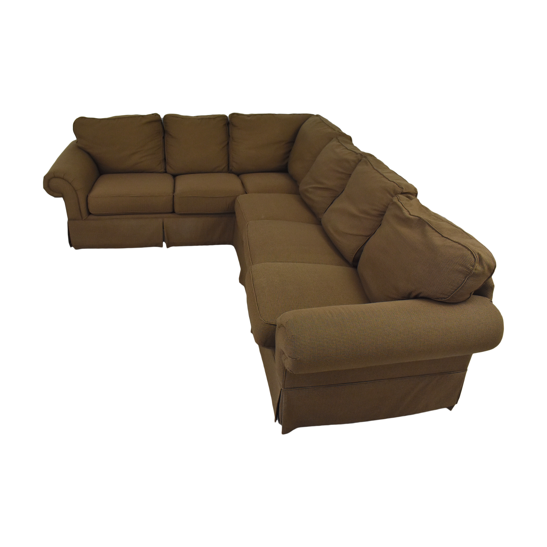 Bassett Furniture Bassett Roll Arm L-Shaped Sectional Sofa on sale