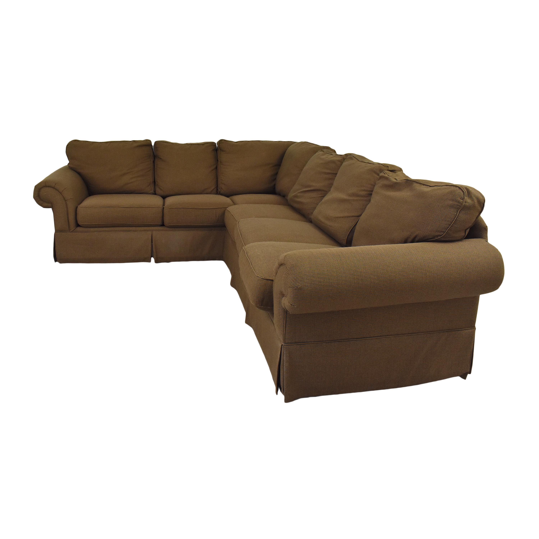 Bassett Furniture Bassett Roll Arm L-Shaped Sectional Sofa