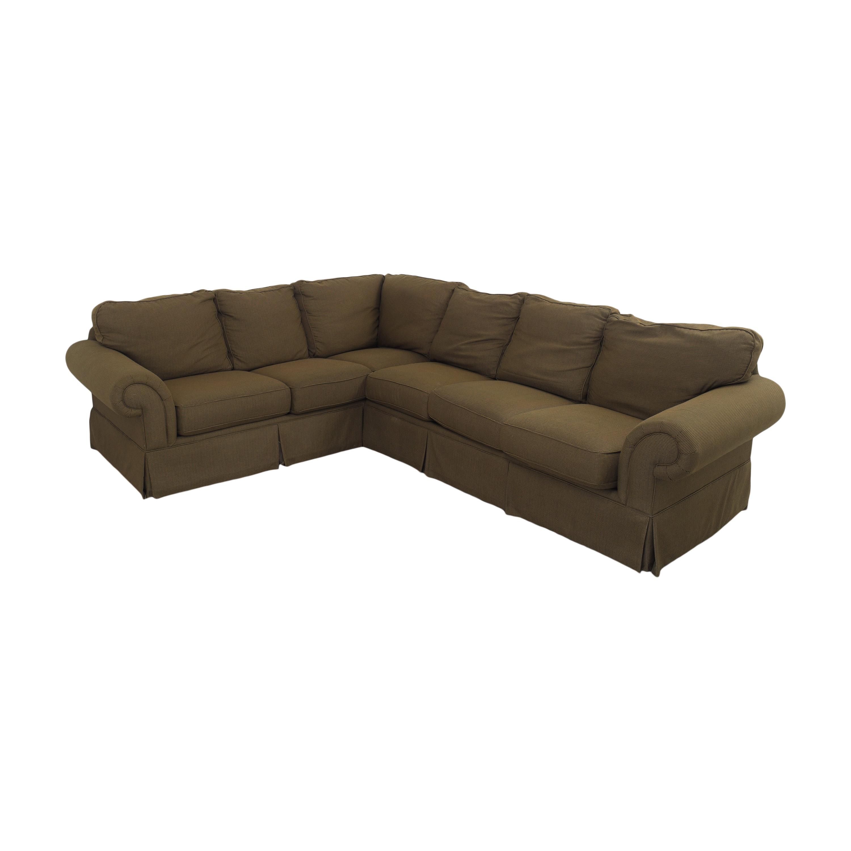 Bassett Furniture Bassett Roll Arm L-Shaped Sectional Sofa Sectionals