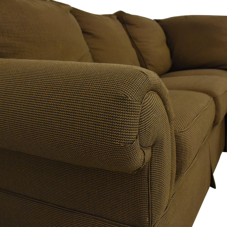Bassett Furniture Bassett Roll Arm L-Shaped Sectional Sofa Sofas