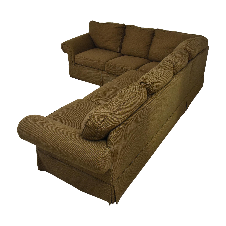 Bassett Furniture Bassett Roll Arm L-Shaped Sectional Sofa ct