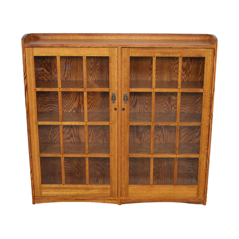 Restoration Hardware Mission Double Barrister Bookcase sale