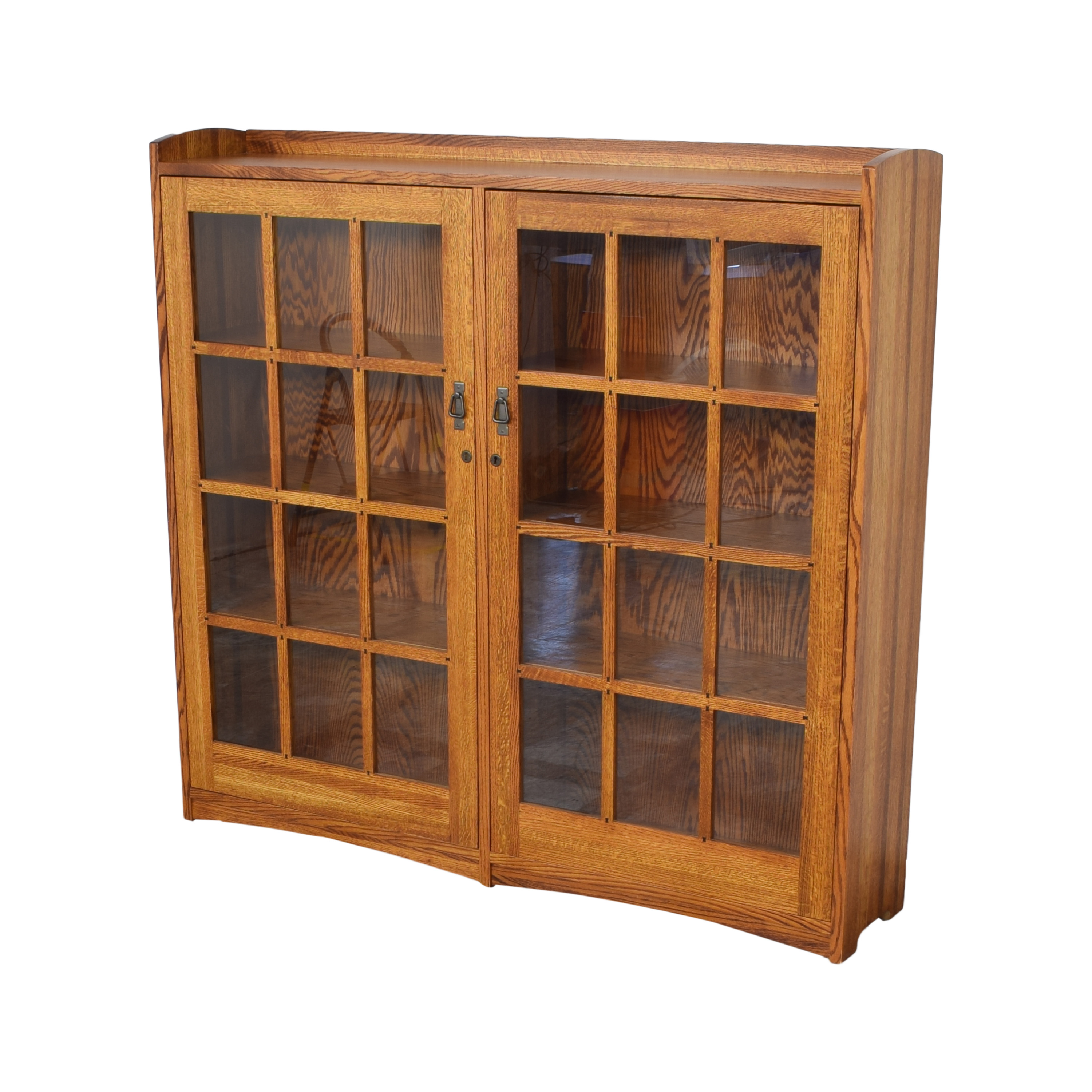 Restoration Hardware Restoration Hardware Mission Double Barrister Bookcase pa