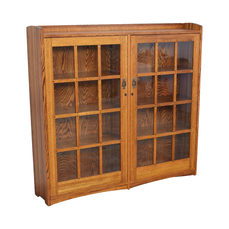 buy Restoration Hardware Mission Double Barrister Bookcase Restoration Hardware Bookcases & Shelving