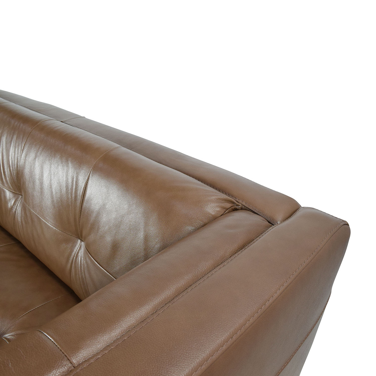 Raymour & Flanigan Bartolo Leather Loveseat Raymour & Flanigan