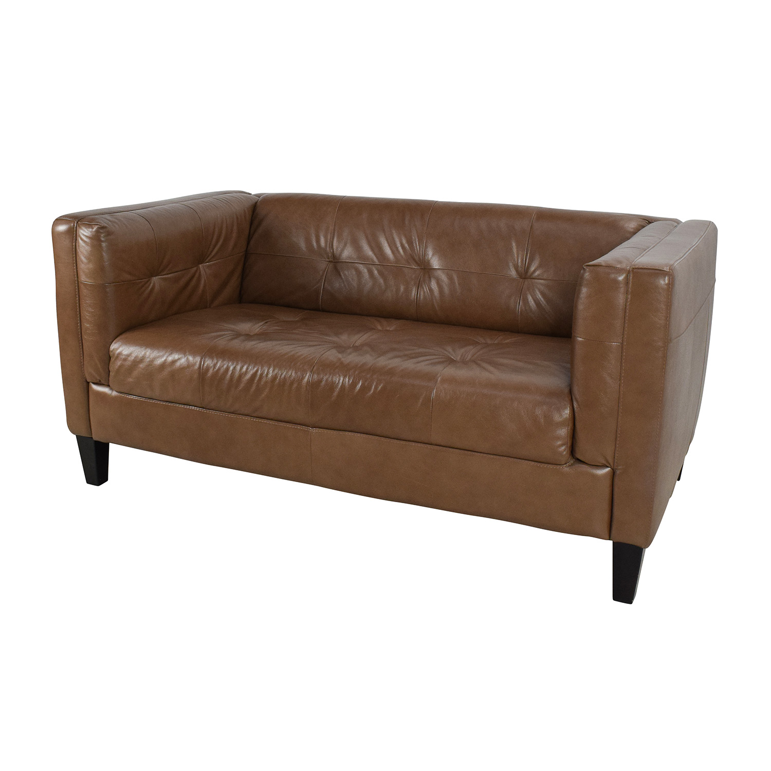 buy Raymour & Flanigan Bartolo Leather Loveseat Raymour & Flanigan Sofas