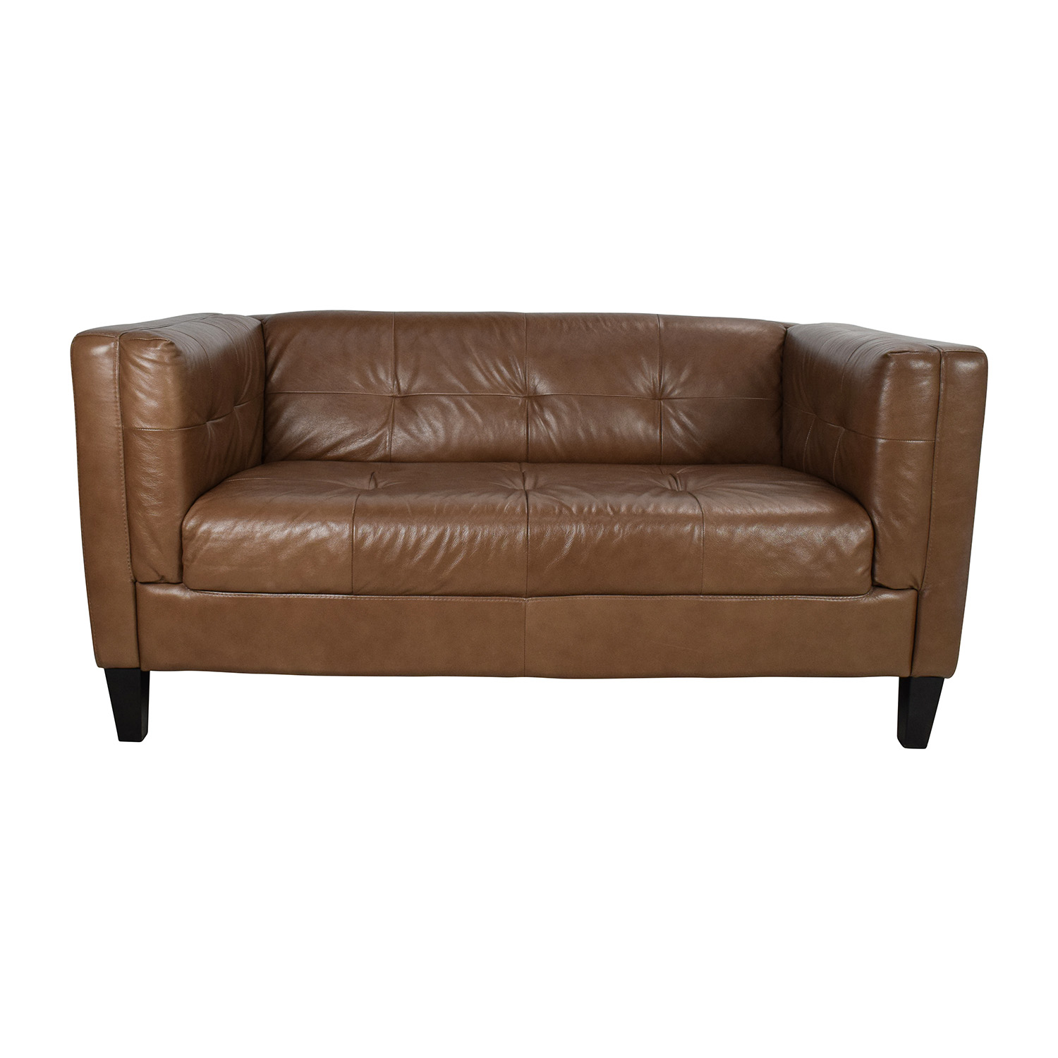 shop Raymour & Flanigan Bartolo Leather Loveseat Raymour & Flanigan